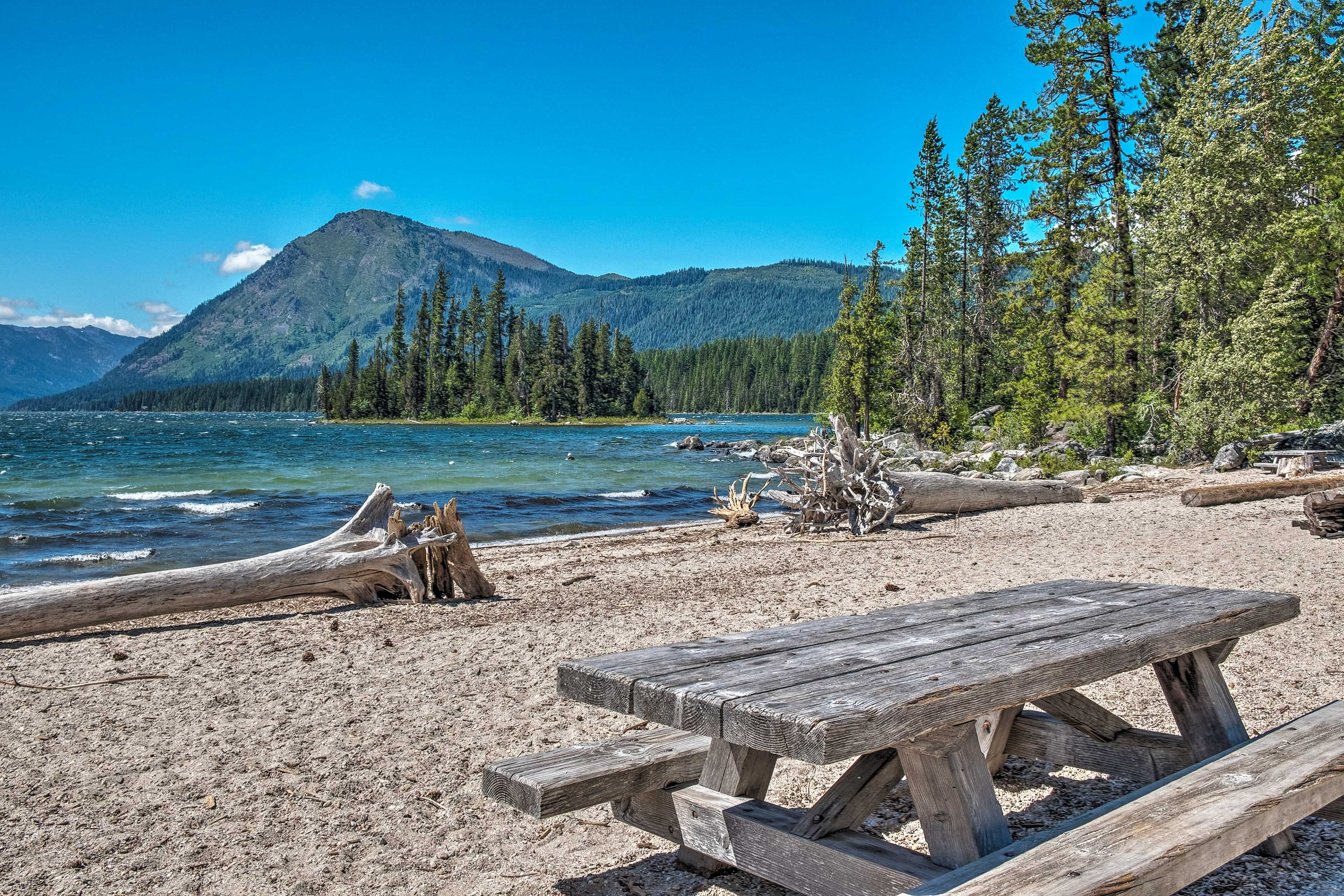 Drive no more than a couple of miles to explore the shores of Lake Wenatchee!