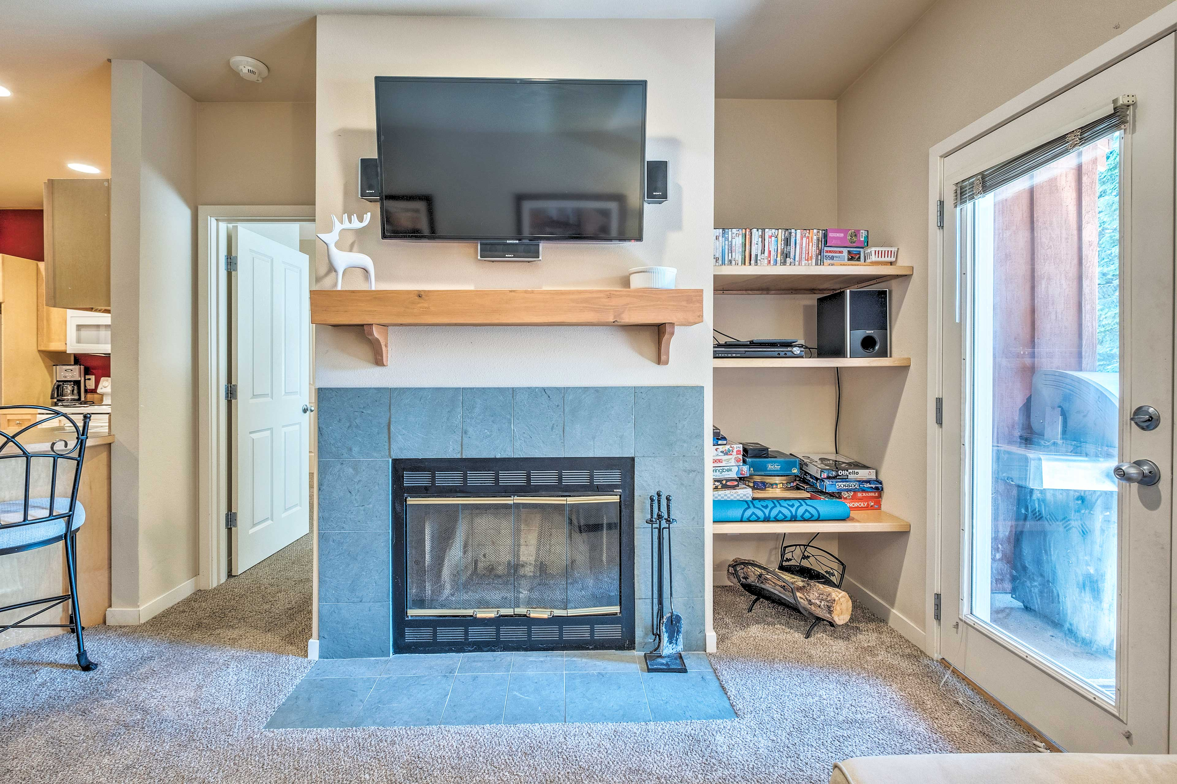 You'll love having the wood-burning fireplace in the winter!