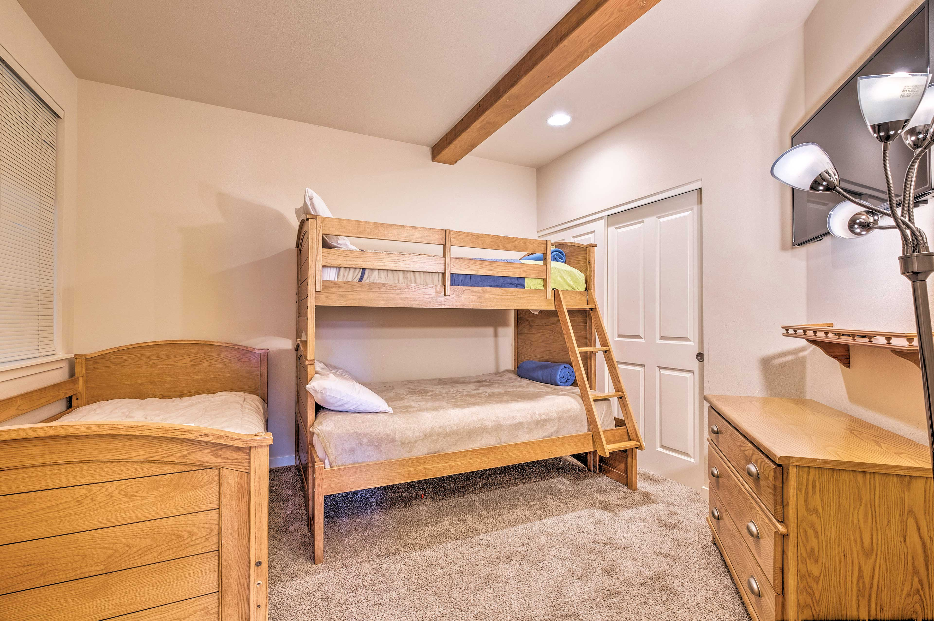 The second bedroom sleeps up to 4.