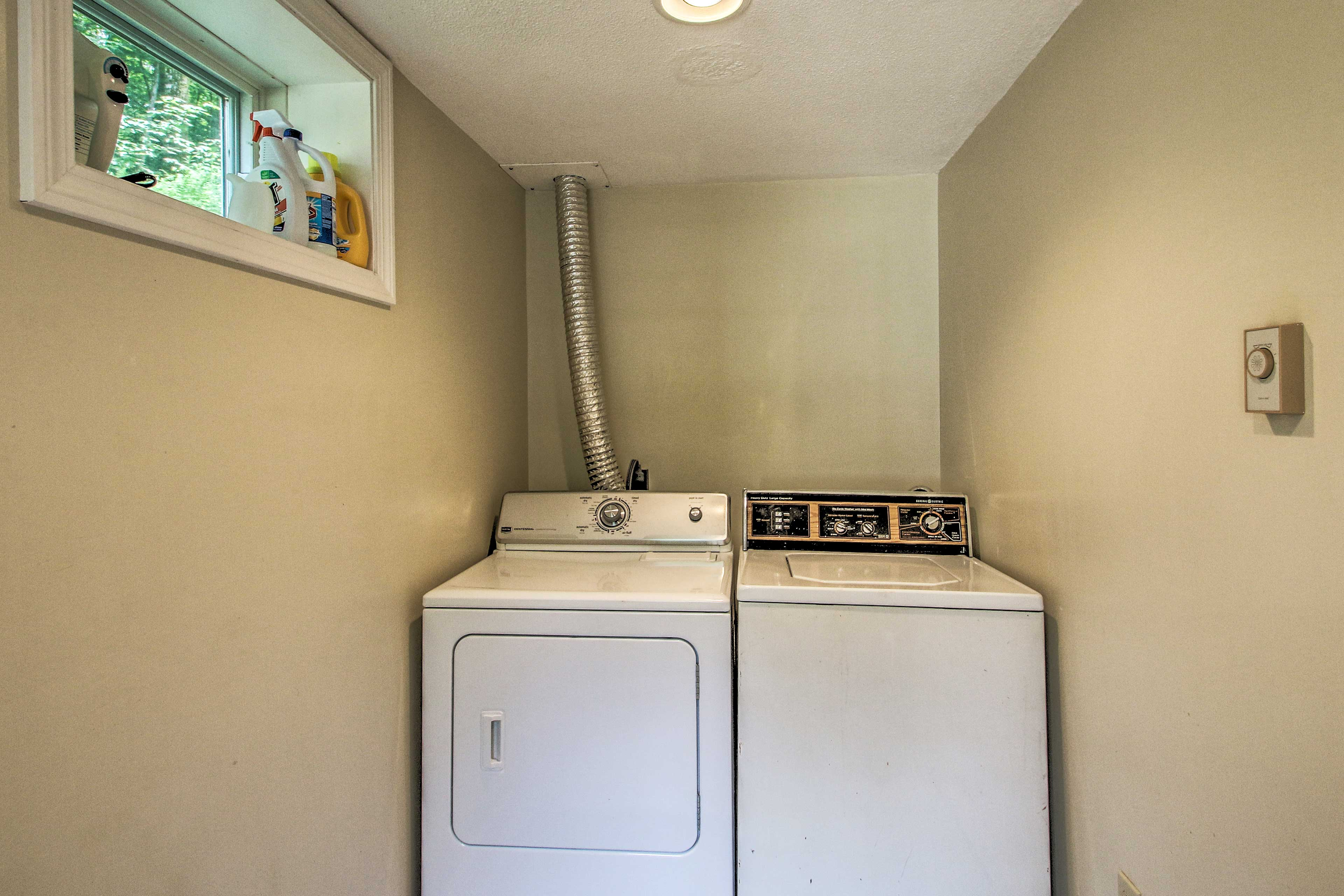 Keep your clothes smelling fresher than mountain air with the onsite laundry.