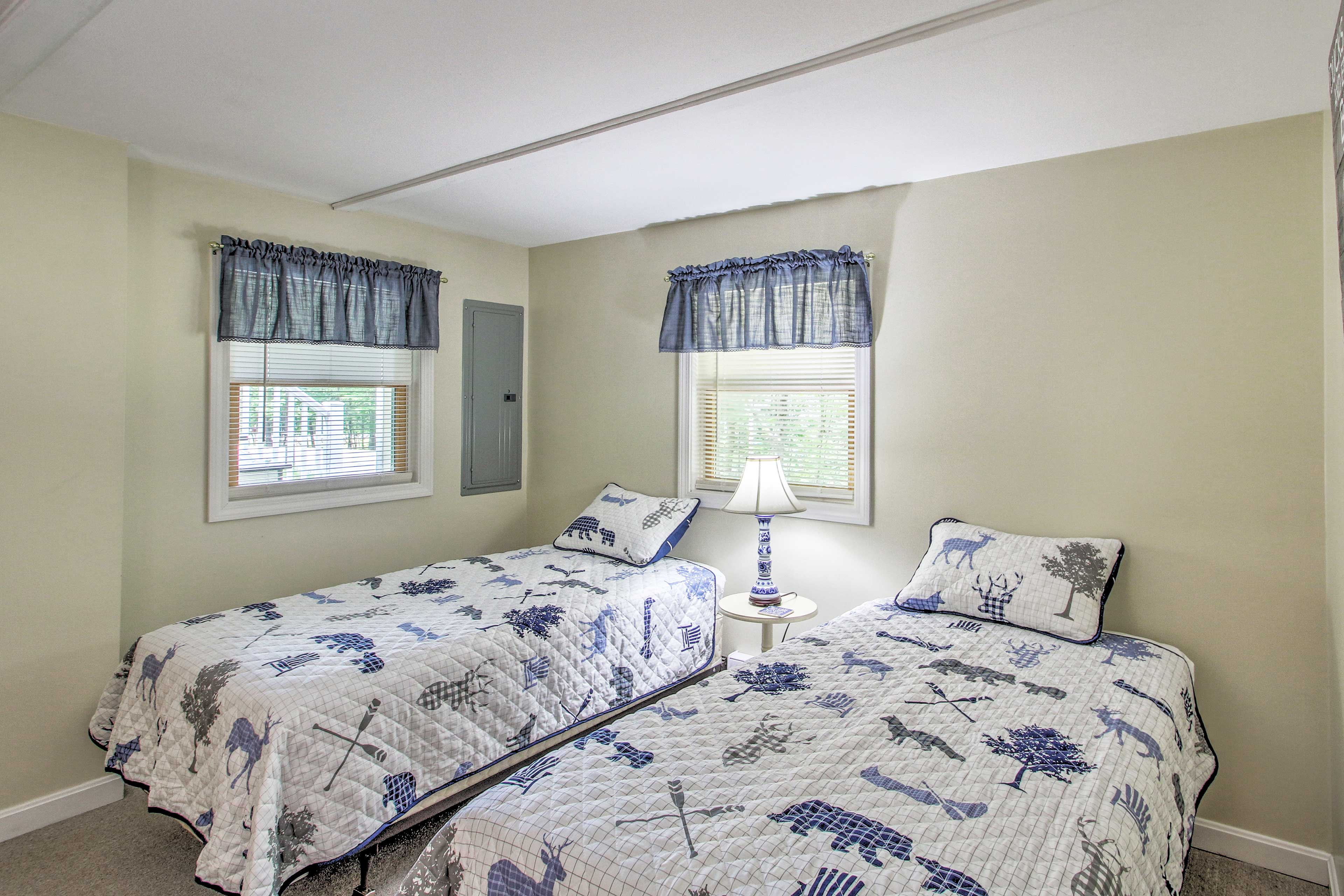 Perfect for the kiddos, this room features 2 twin beds.