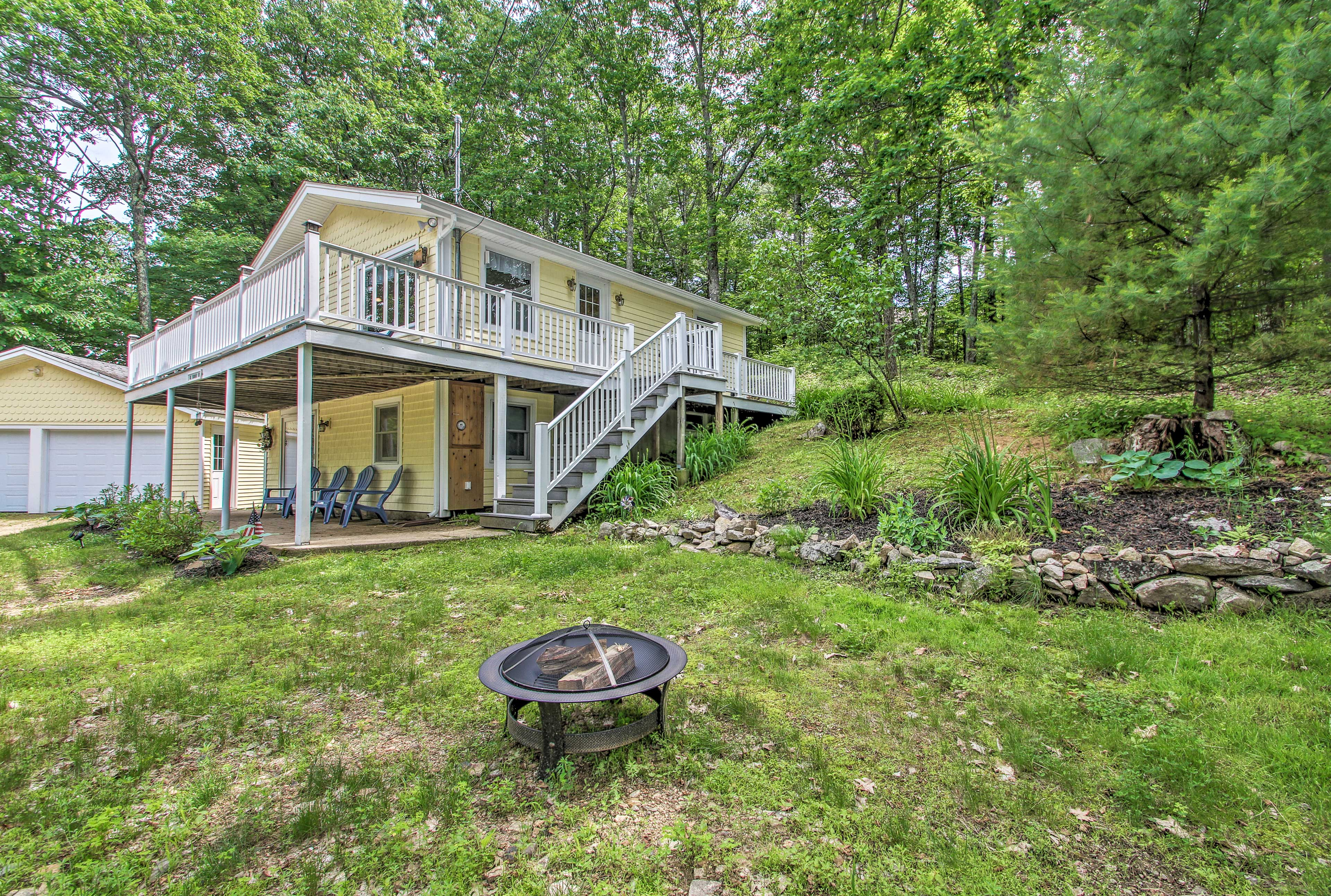 Escape to the lake and stay at this vacation rental home in Gilford!