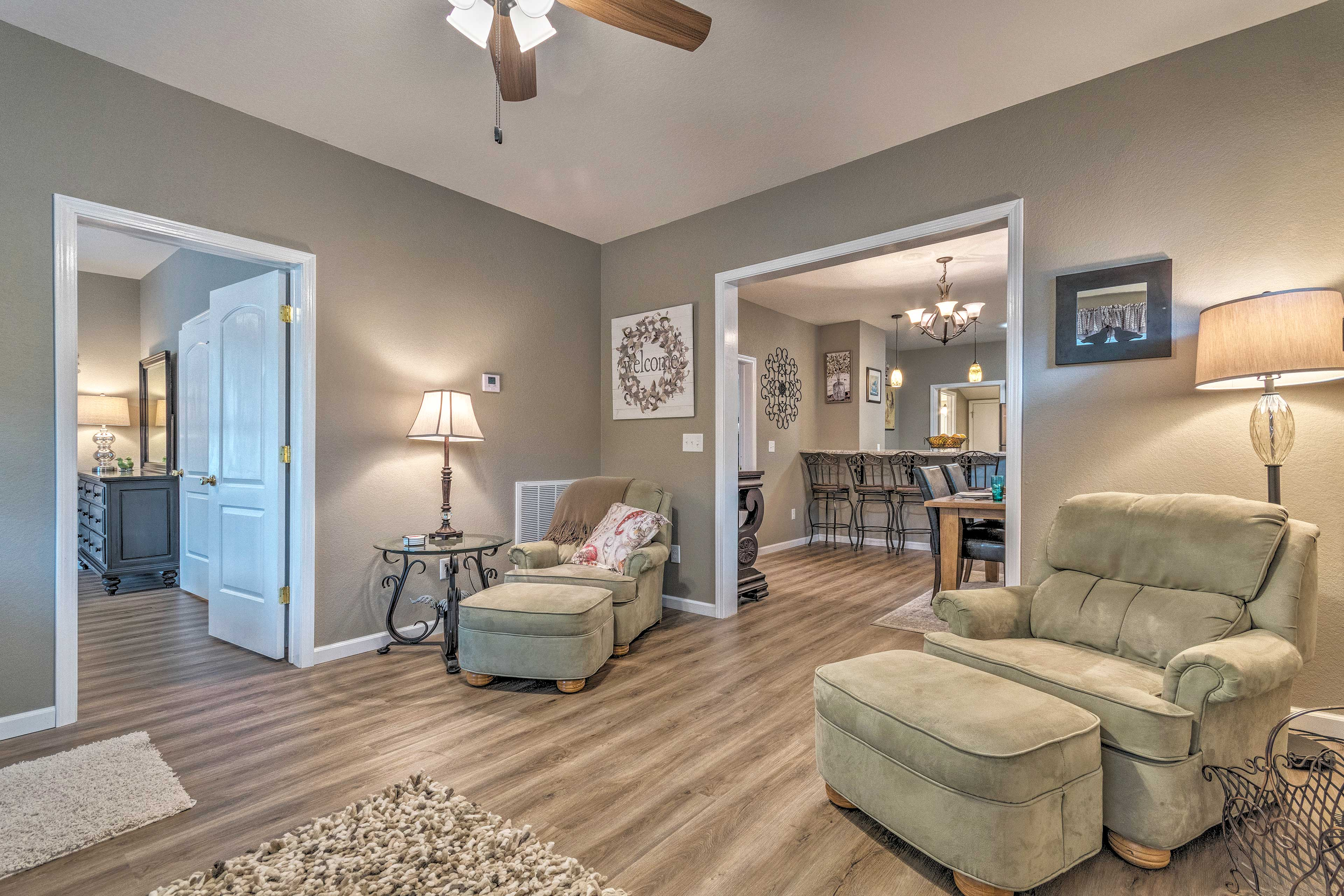The whole interior was recently updated and offers top-of-the-line amenities.