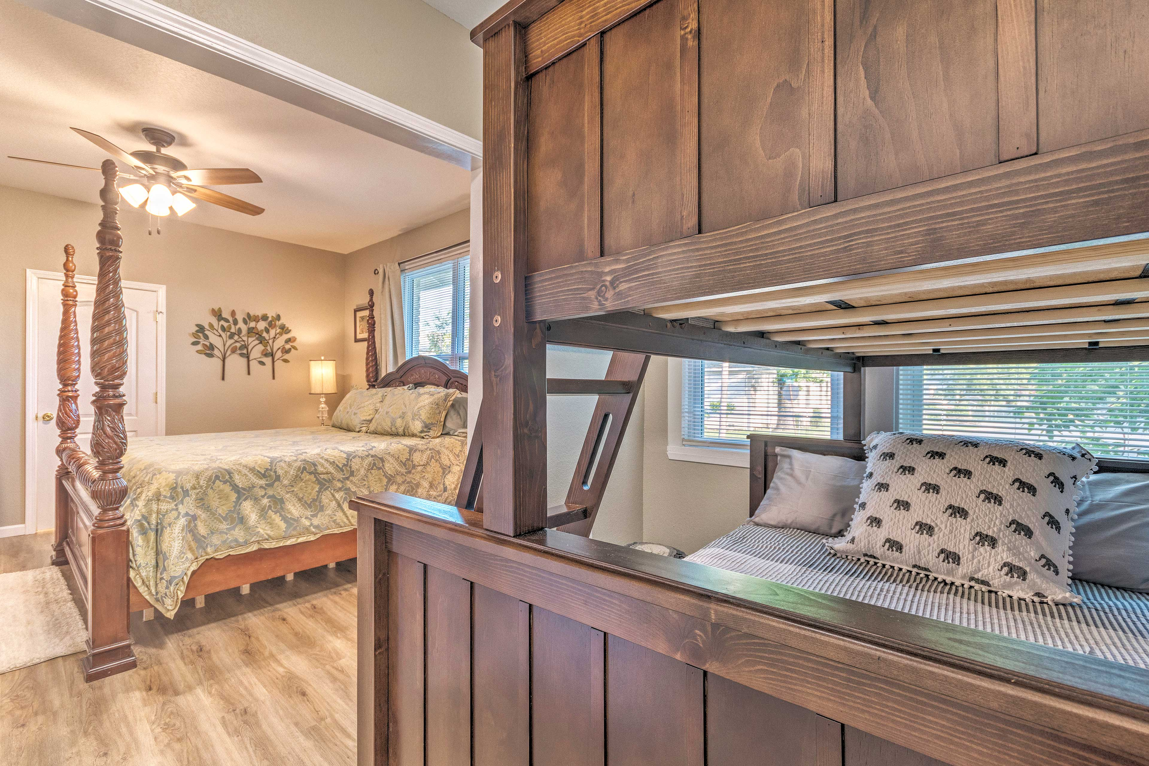 This bunk bed sleeps 3.