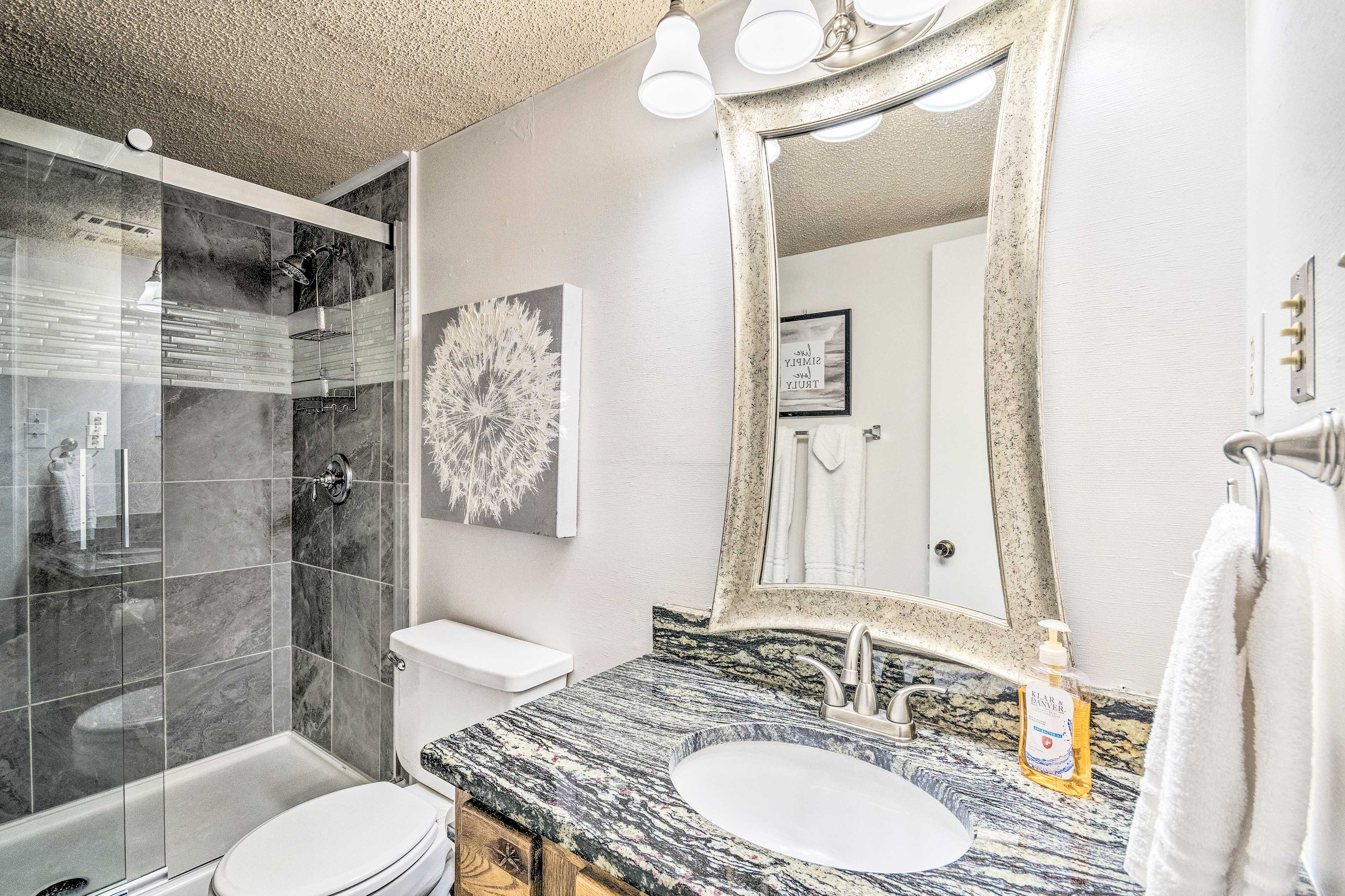 Rinse and refresh in the walk-in shower!