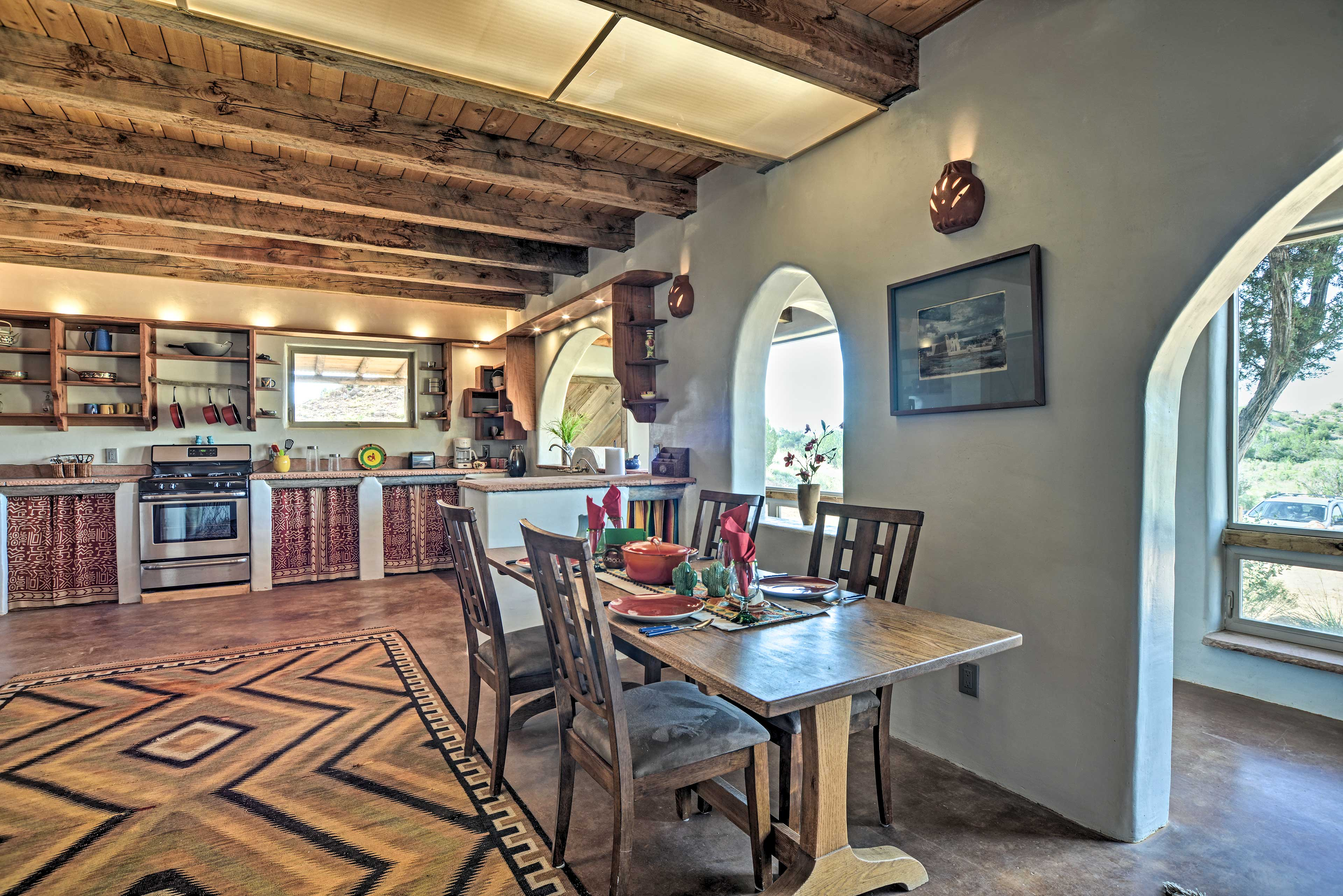 The kitchen & dining area share a spacious open layout.