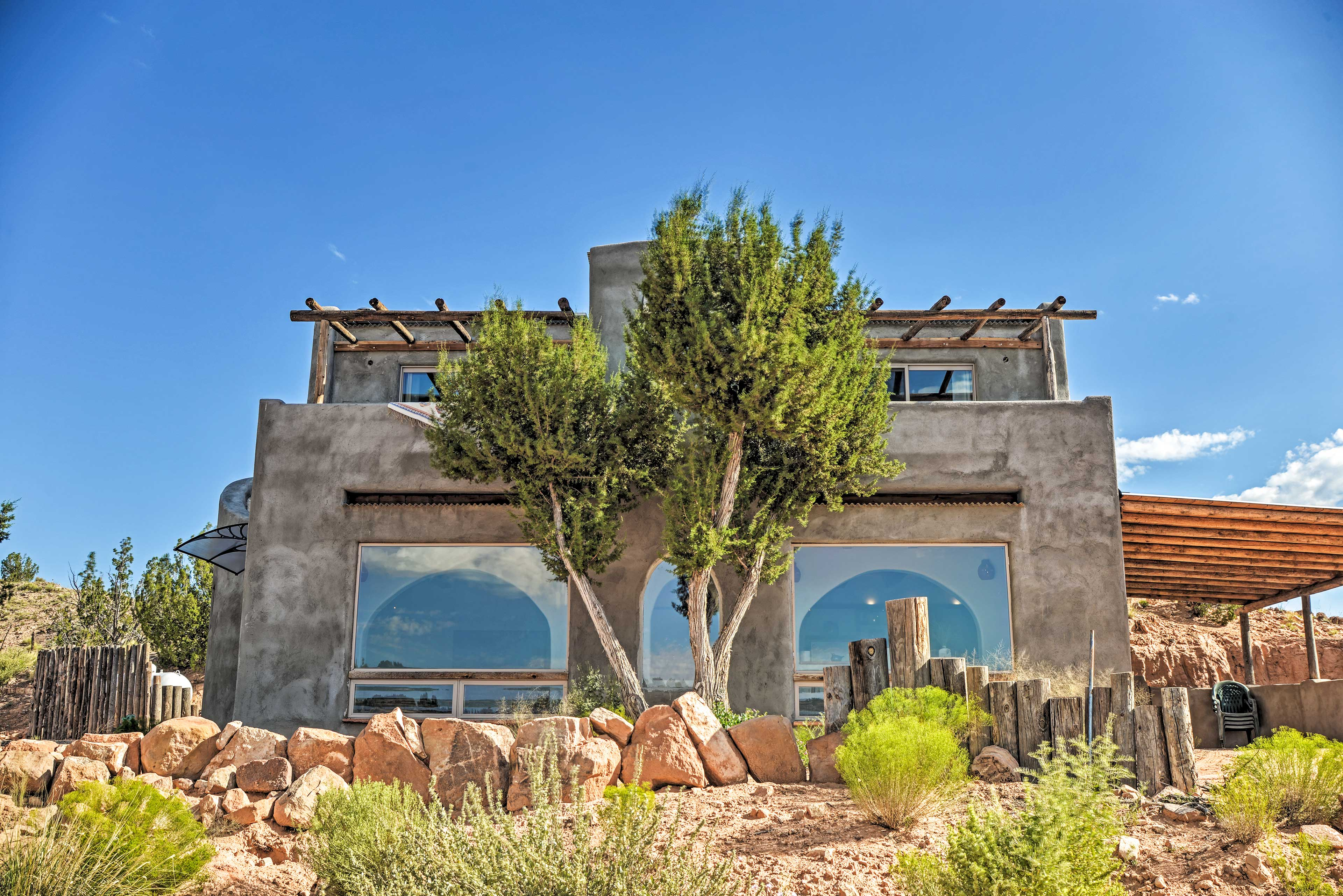 Escape to New Mexico & enjoy an adventurous holiday at this San Ysidro home.