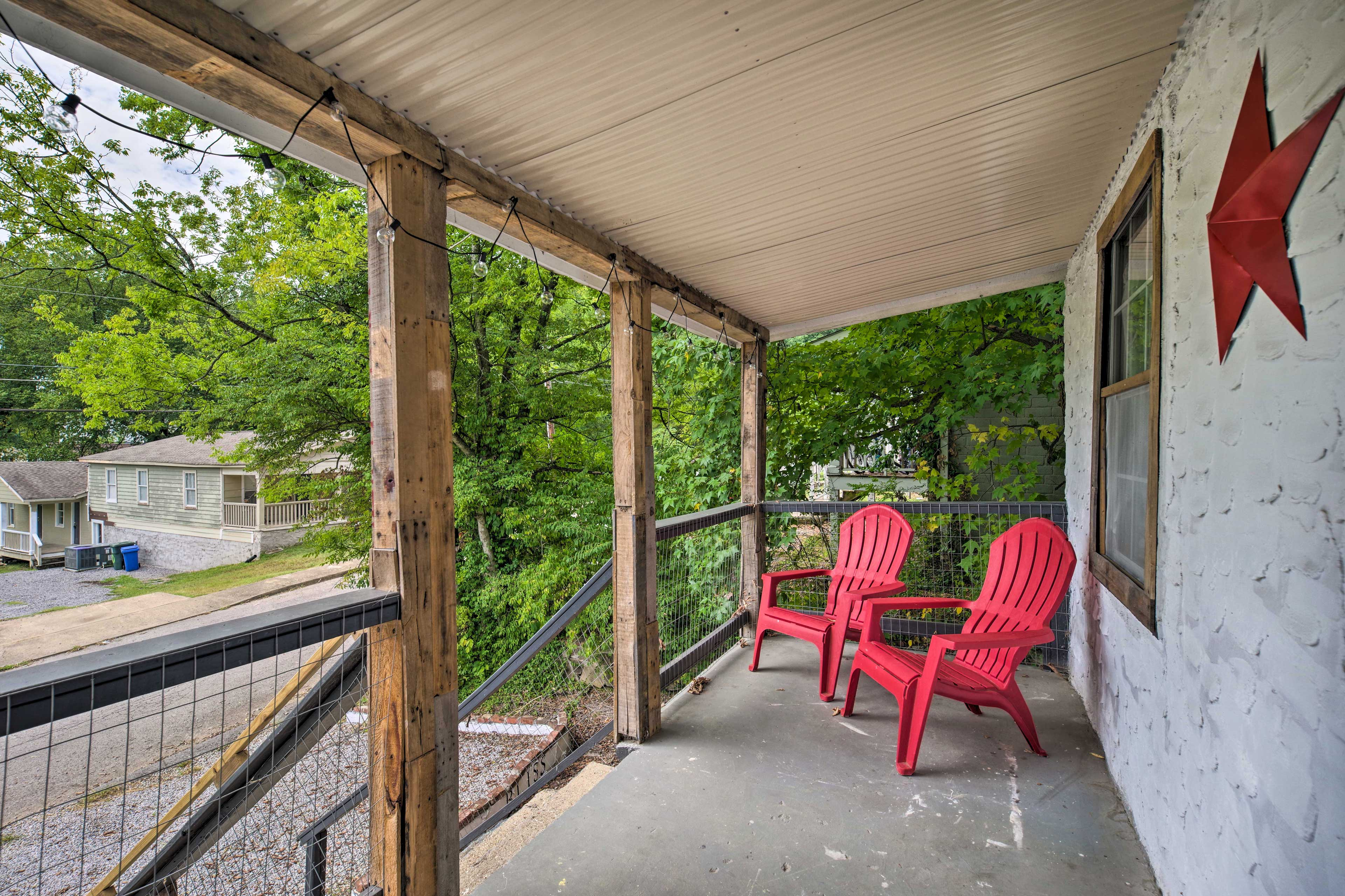 The front porch is the perfect place to start your morning.