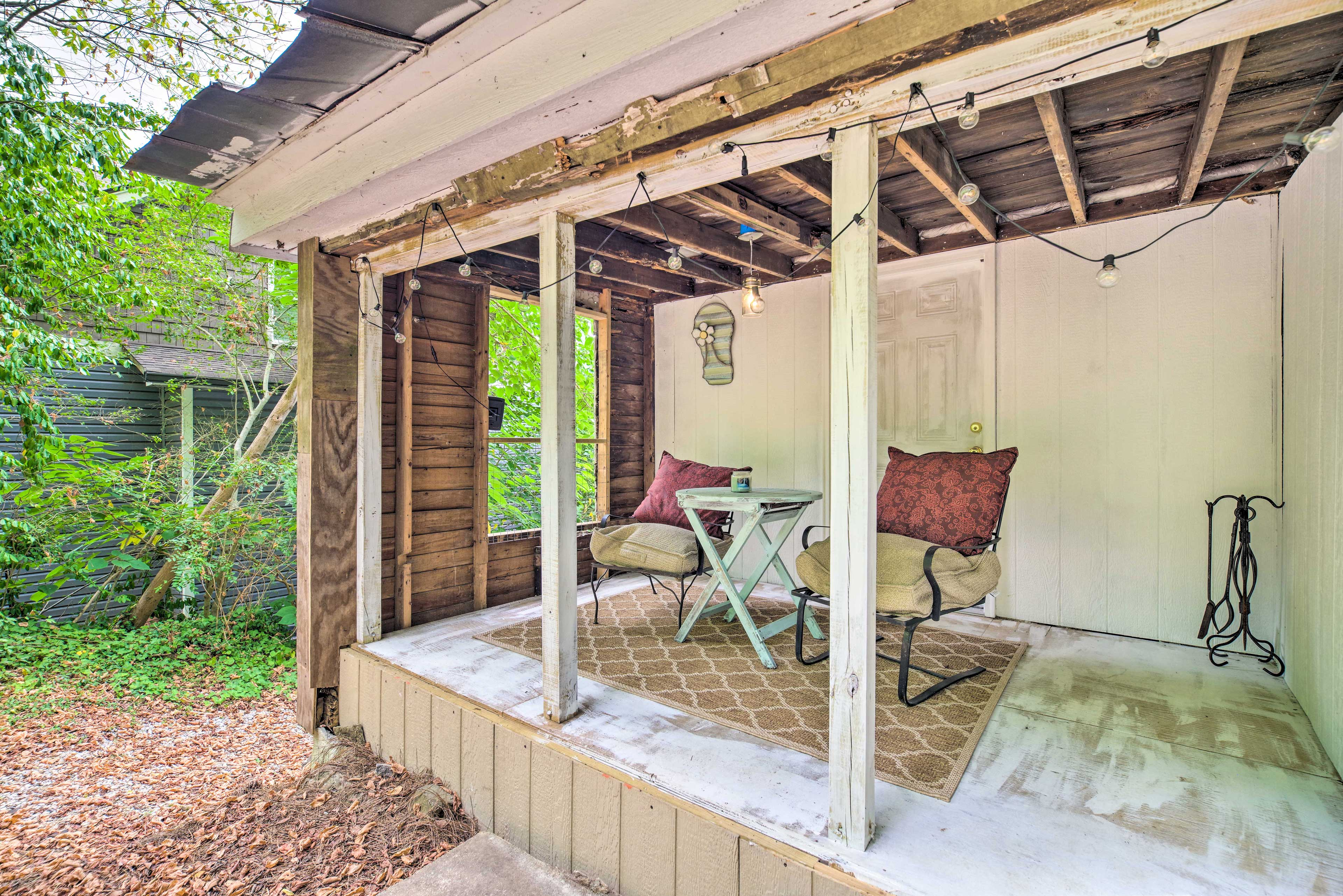 Spend your afternoons on the backyard porch!