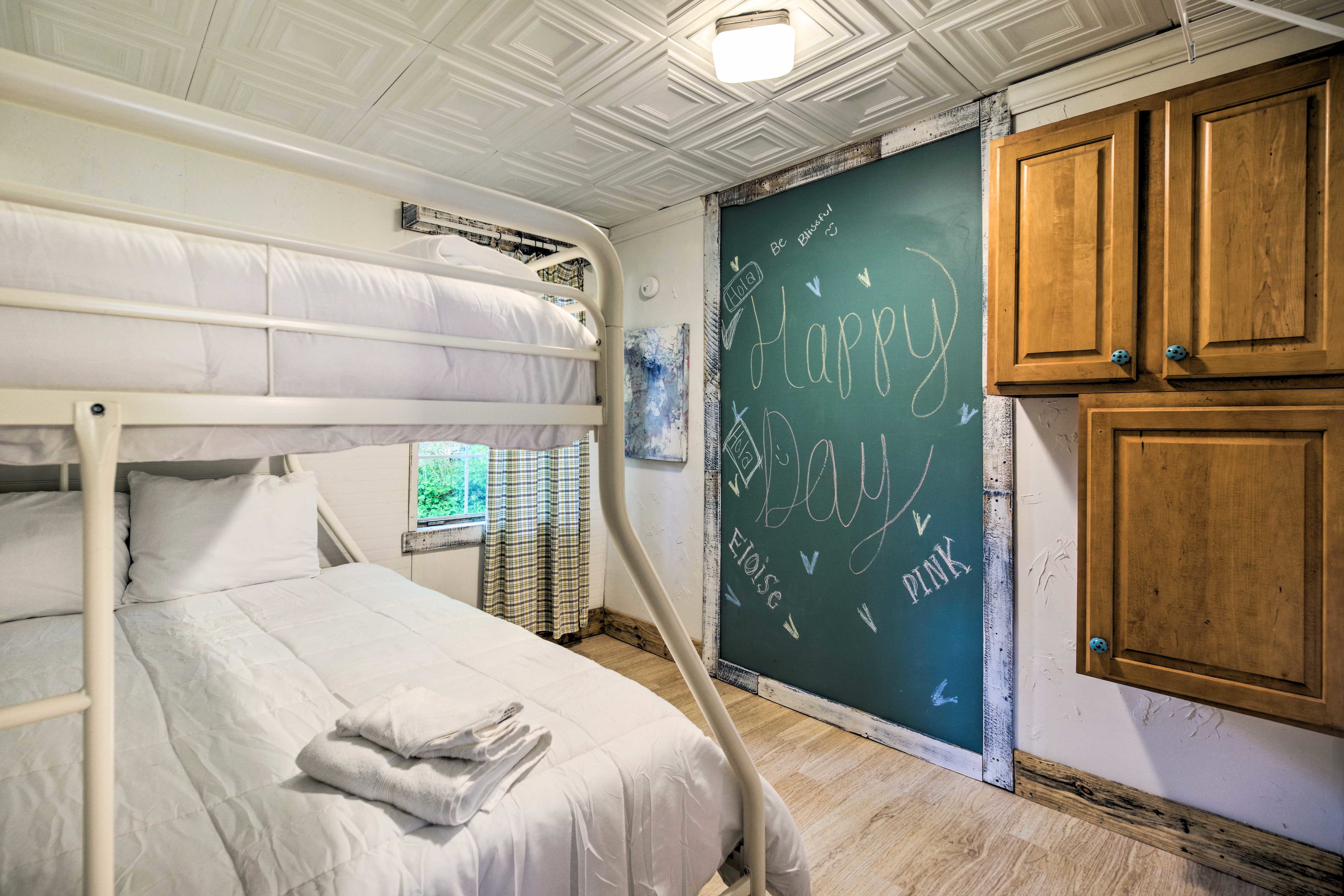 The second bedroom is perfect for kids or groups of 3!