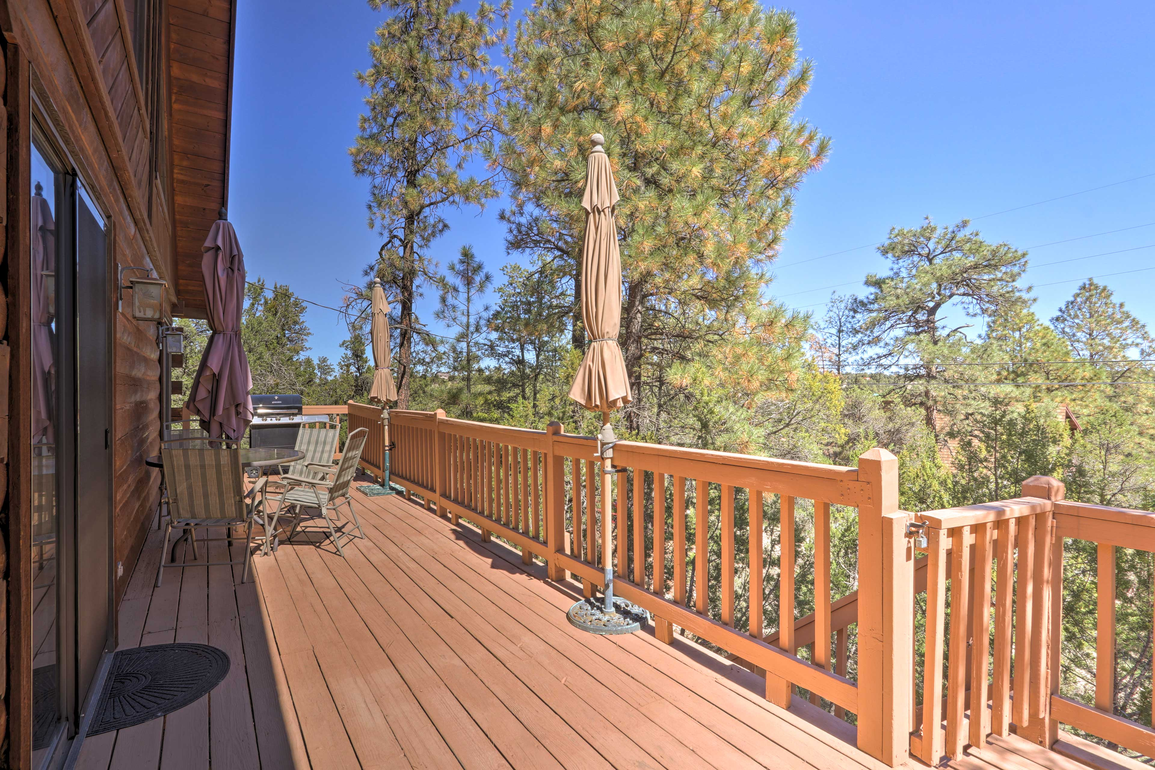 Step out onto the deck and get some Vitamin D.