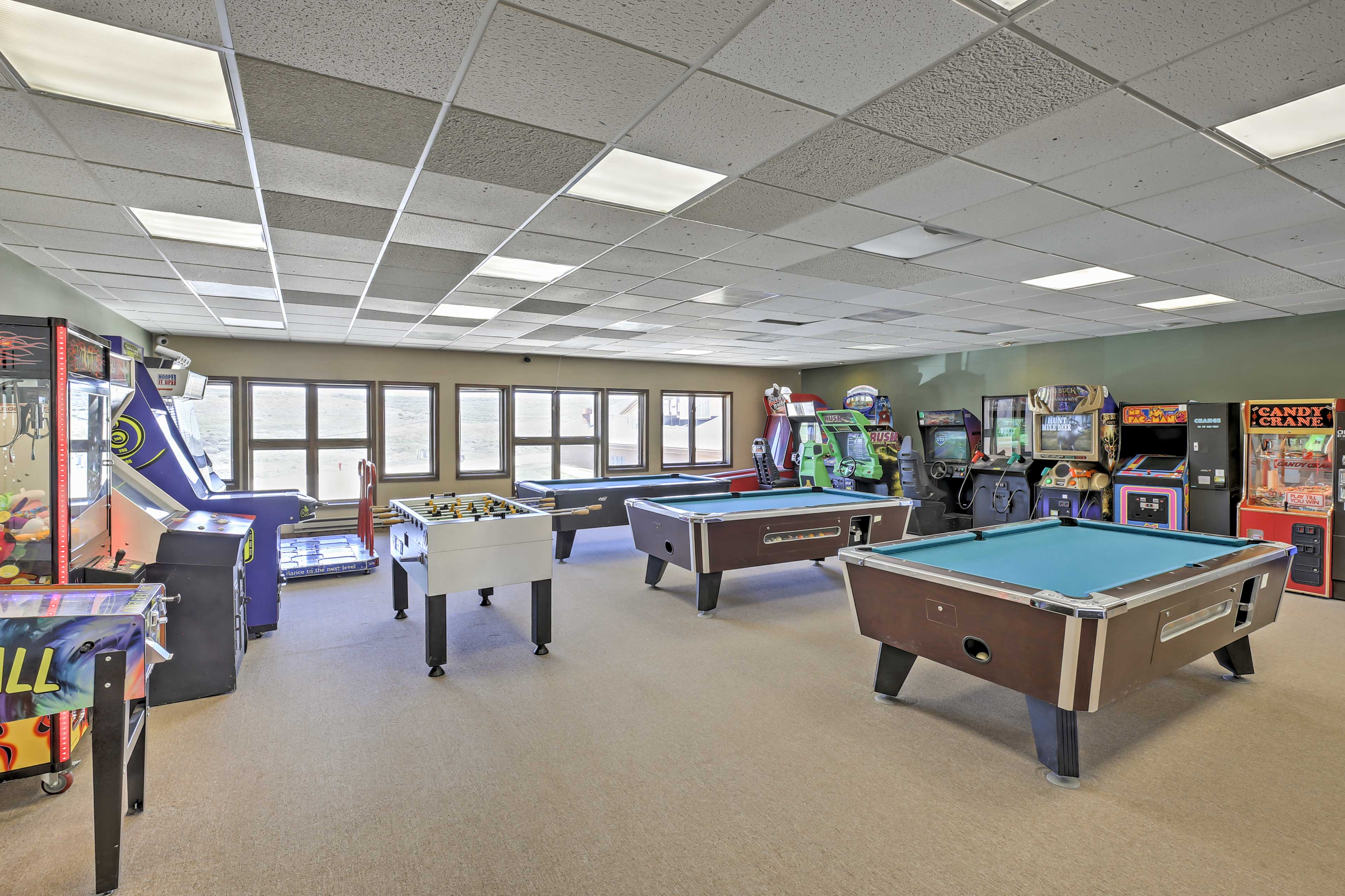 The kids will enjoy the game room.