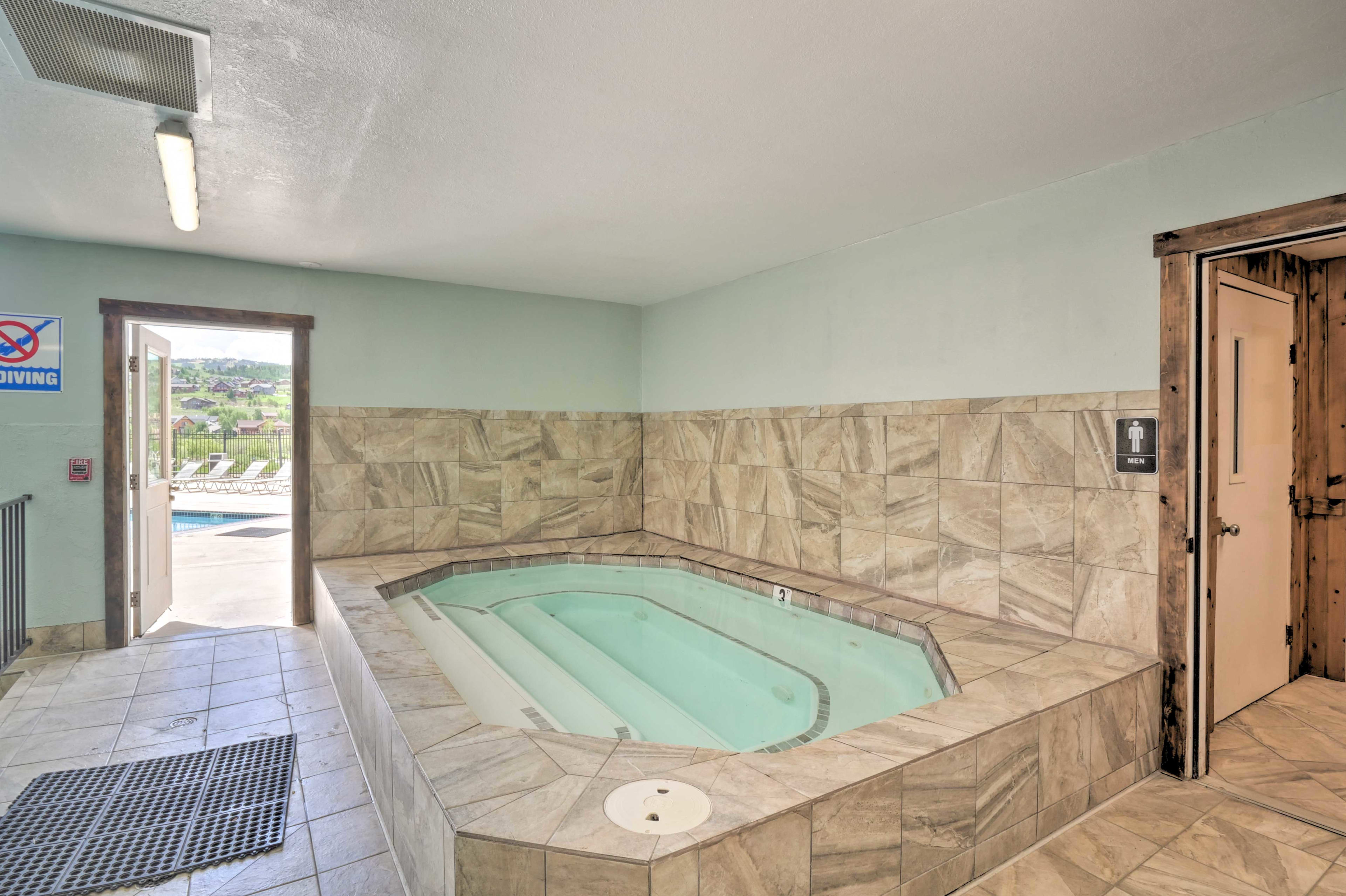 Take a dip in the inside hot tub.