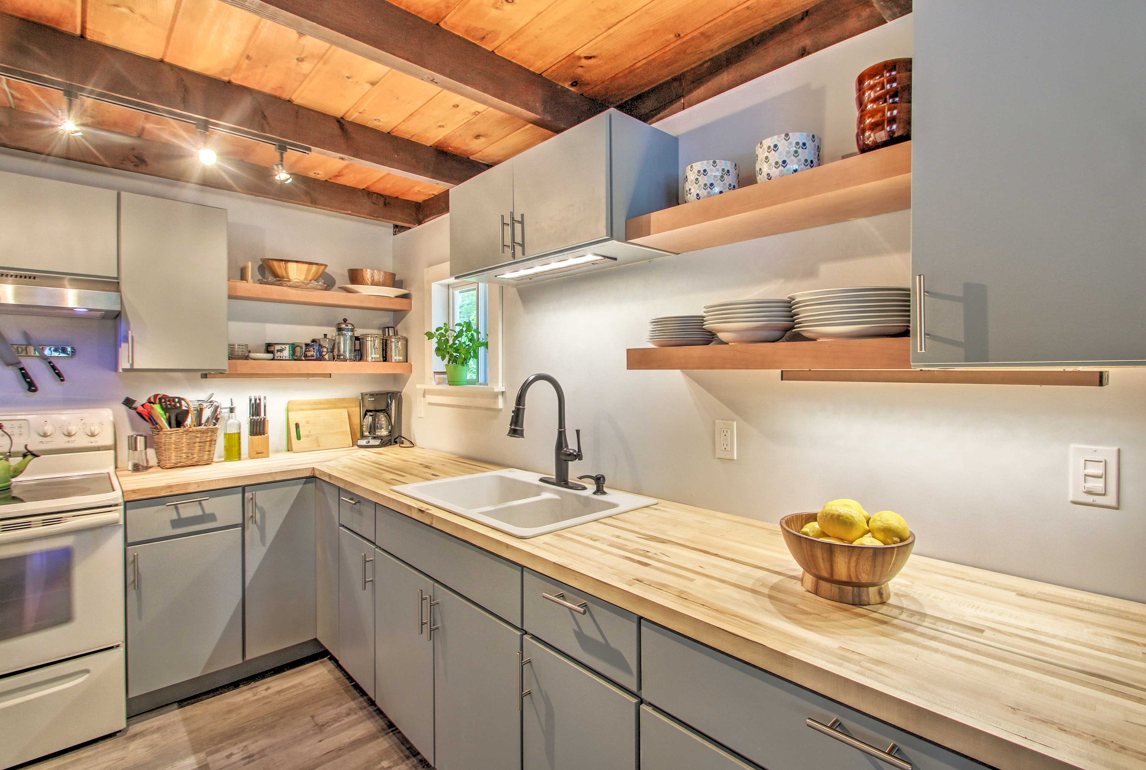 Make memories in the well-equipped kitchen as homemade meals are prepared.