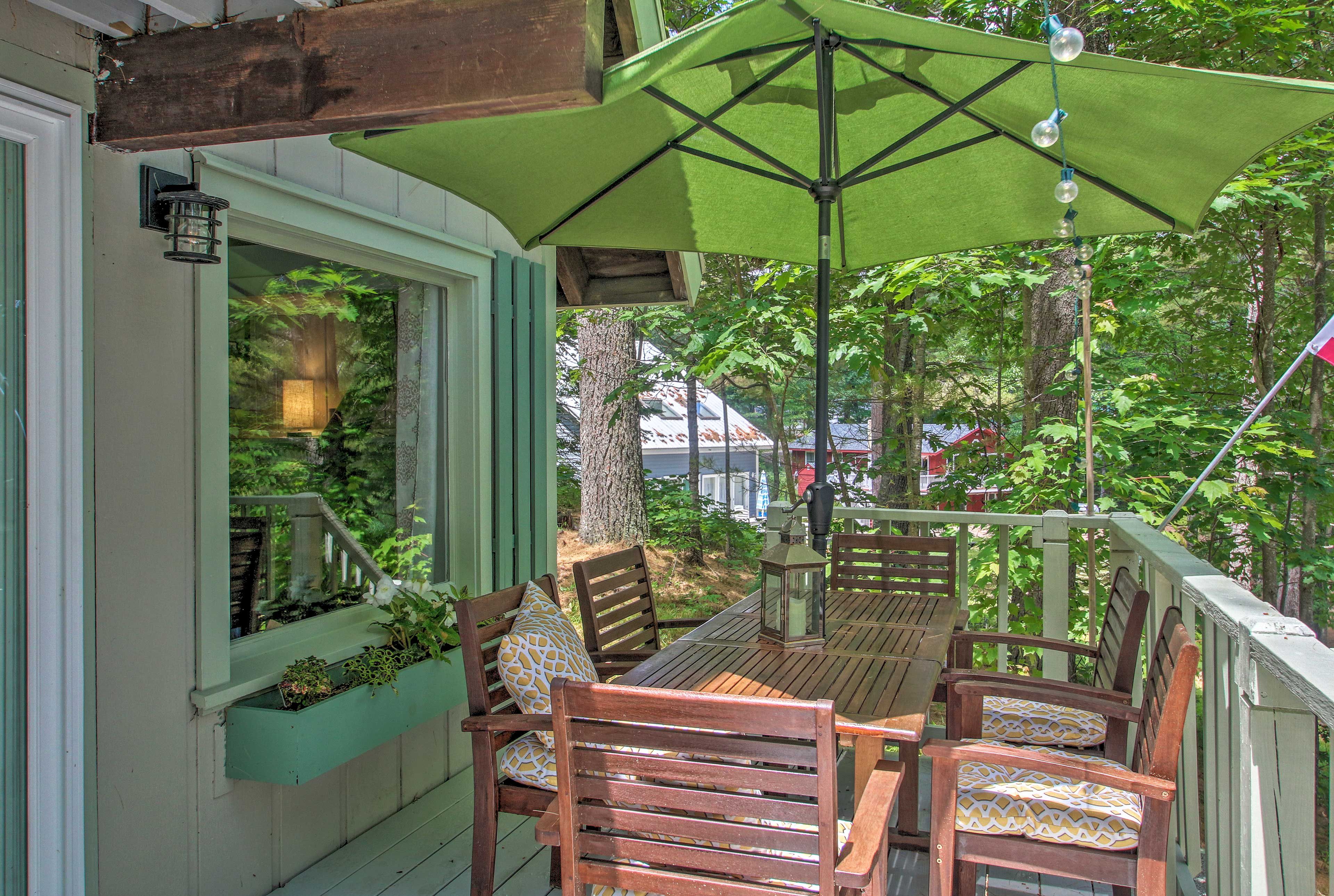 Sit in the shade and enjoy a barbecued meal together.