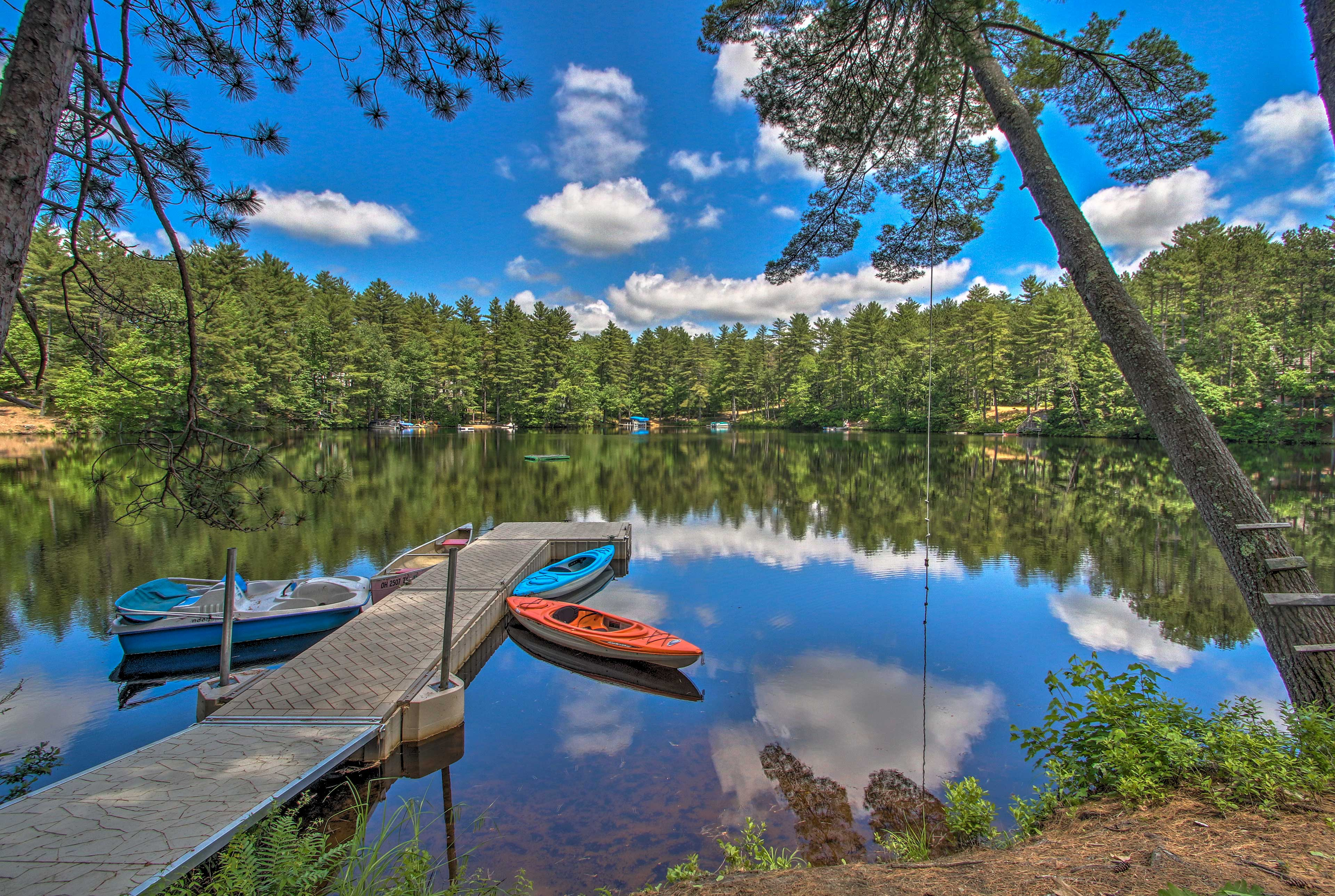 Connect right to Lake Arrowhead at this 4-bedroom, 1-bath cabin!