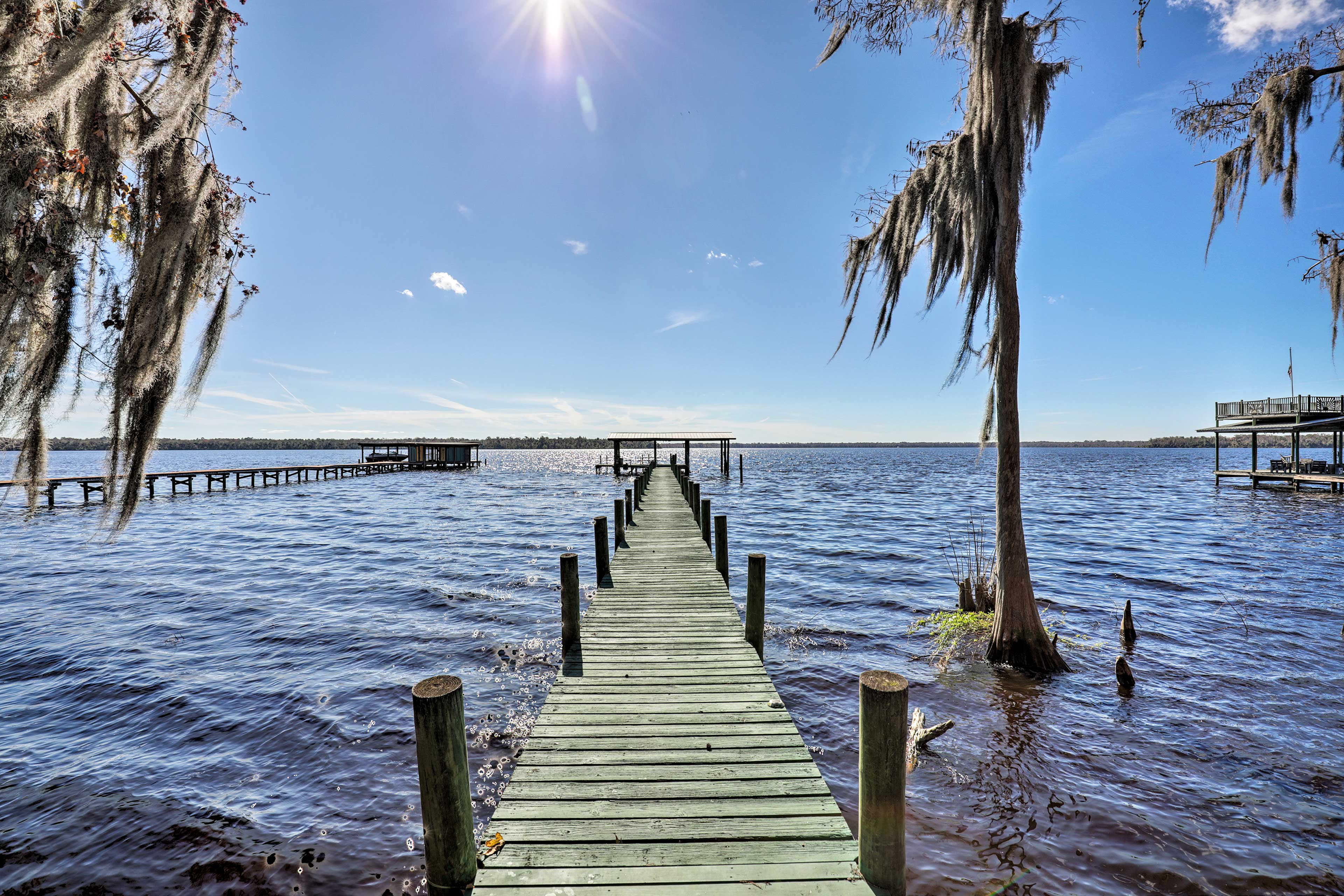 Enjoy access a private boat dock - the perfect spot to fish for bass!