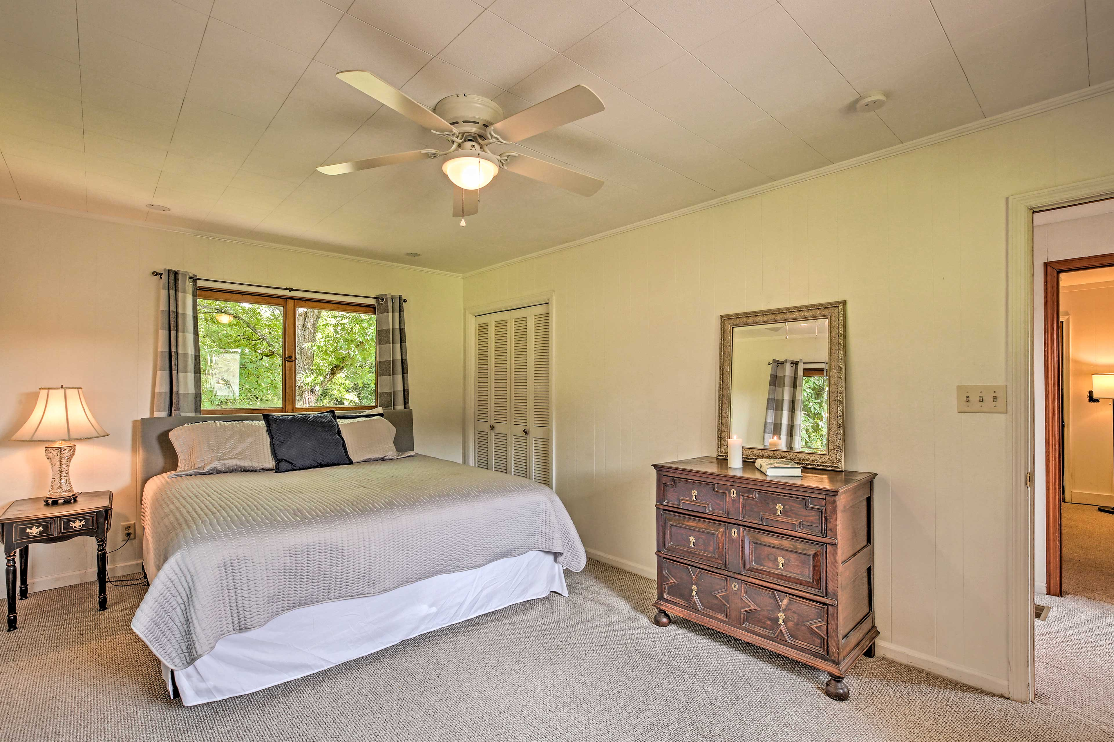 The master bedroom is a comfortable retreat.