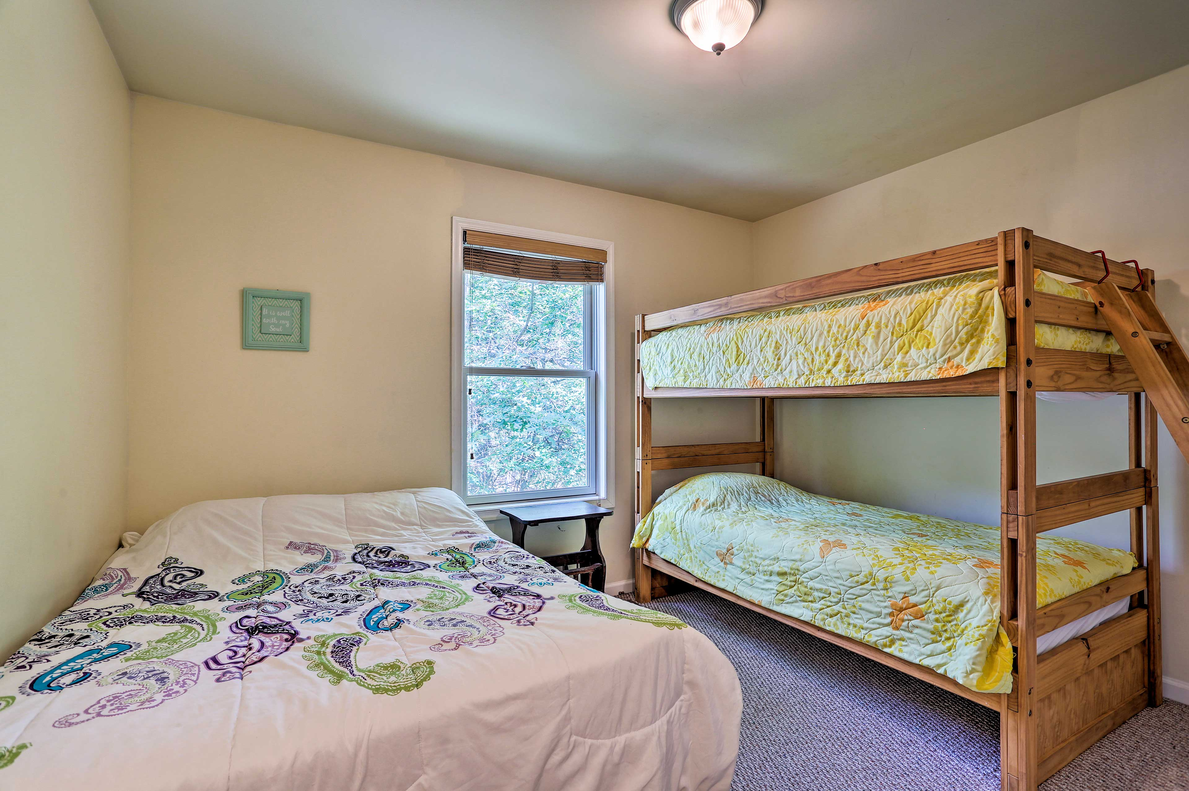 Four guests can sleep in this room, perfect for kids.