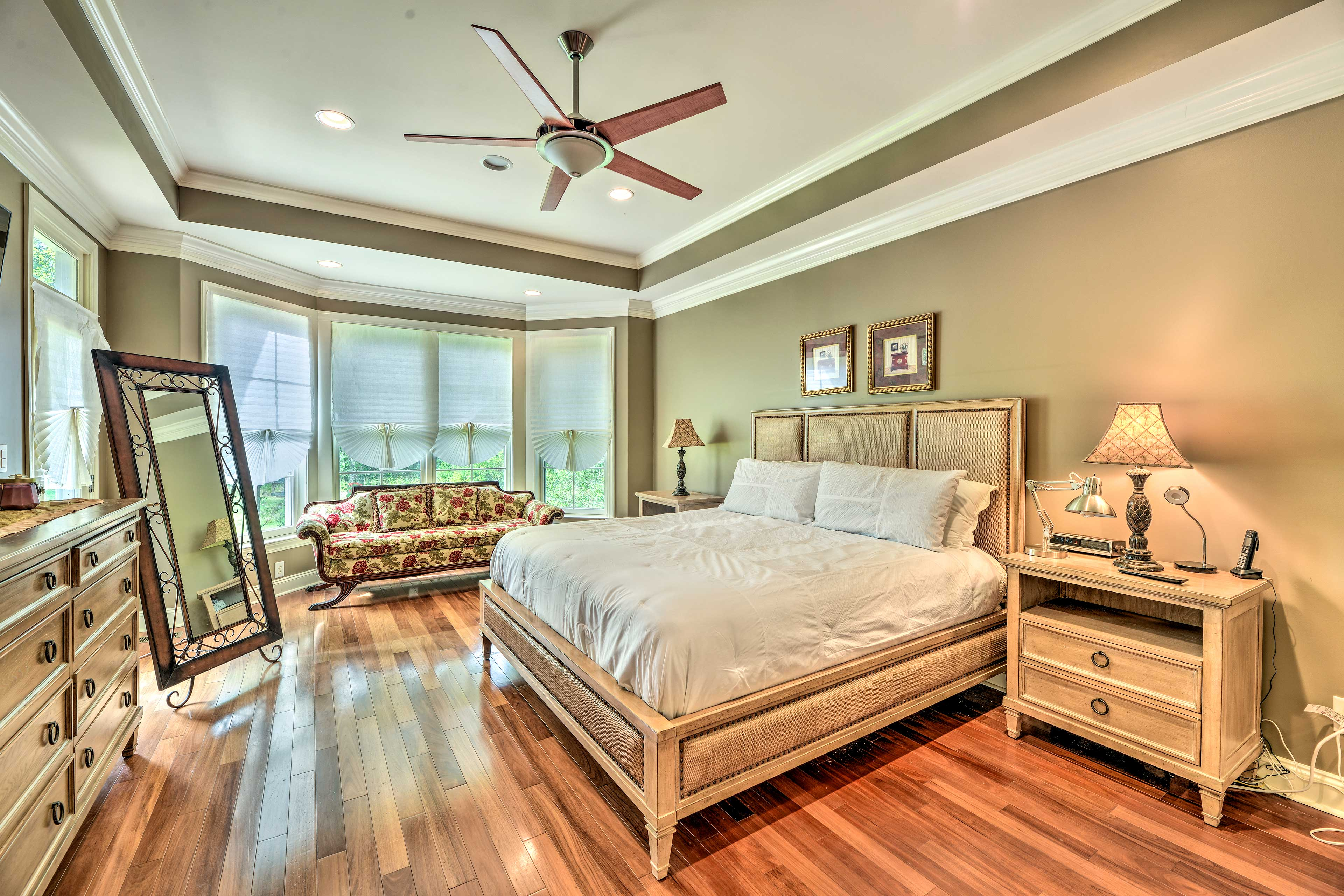 The master bedroom is a luxurious escape!