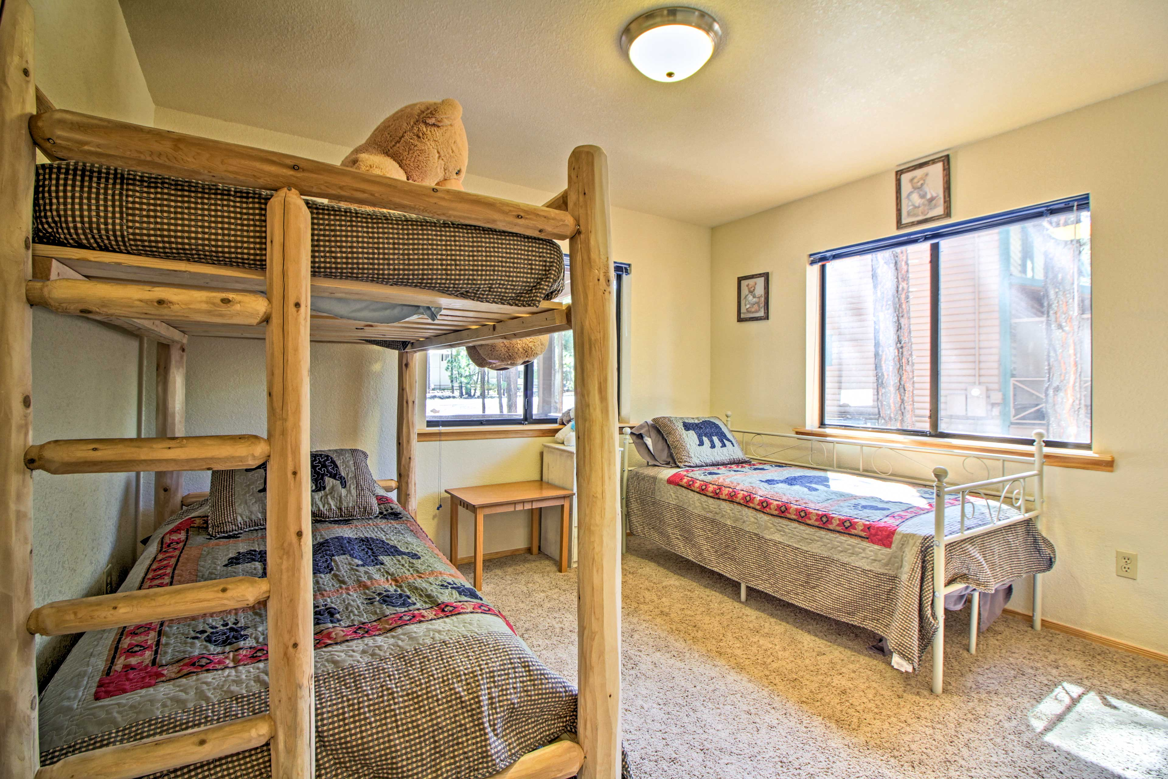 Up to 3 guests can sleep in this bedroom!
