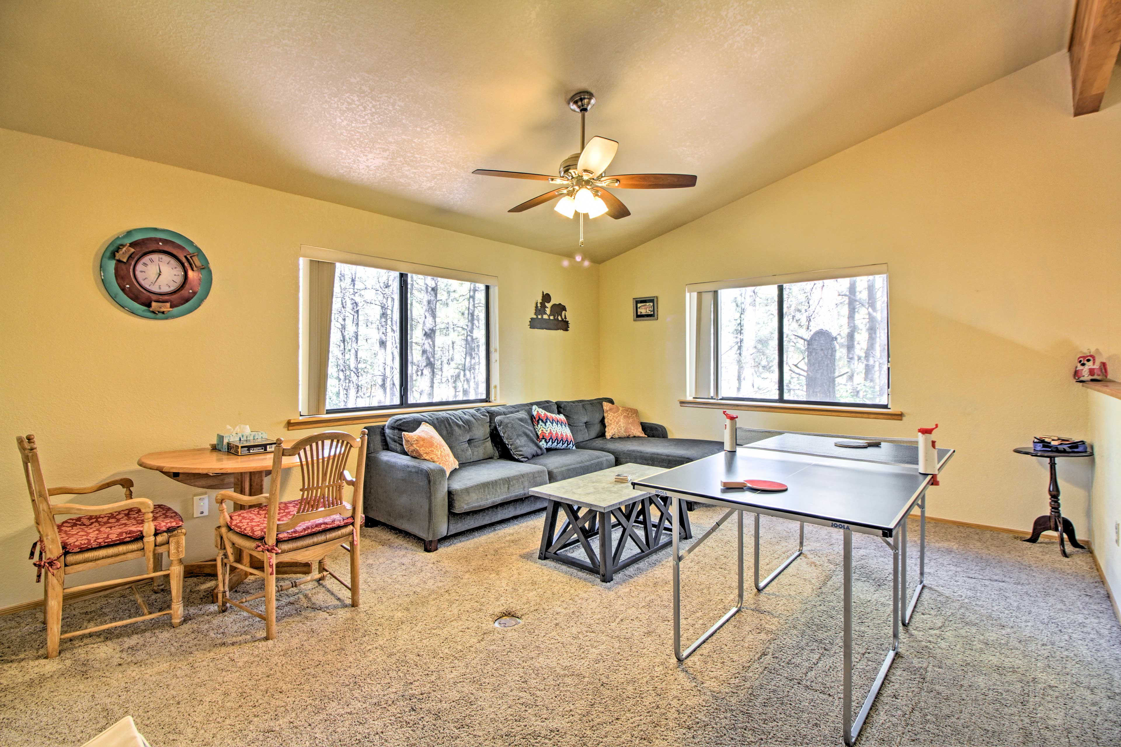 The home also boasts a game loft with table games and comfy seating!