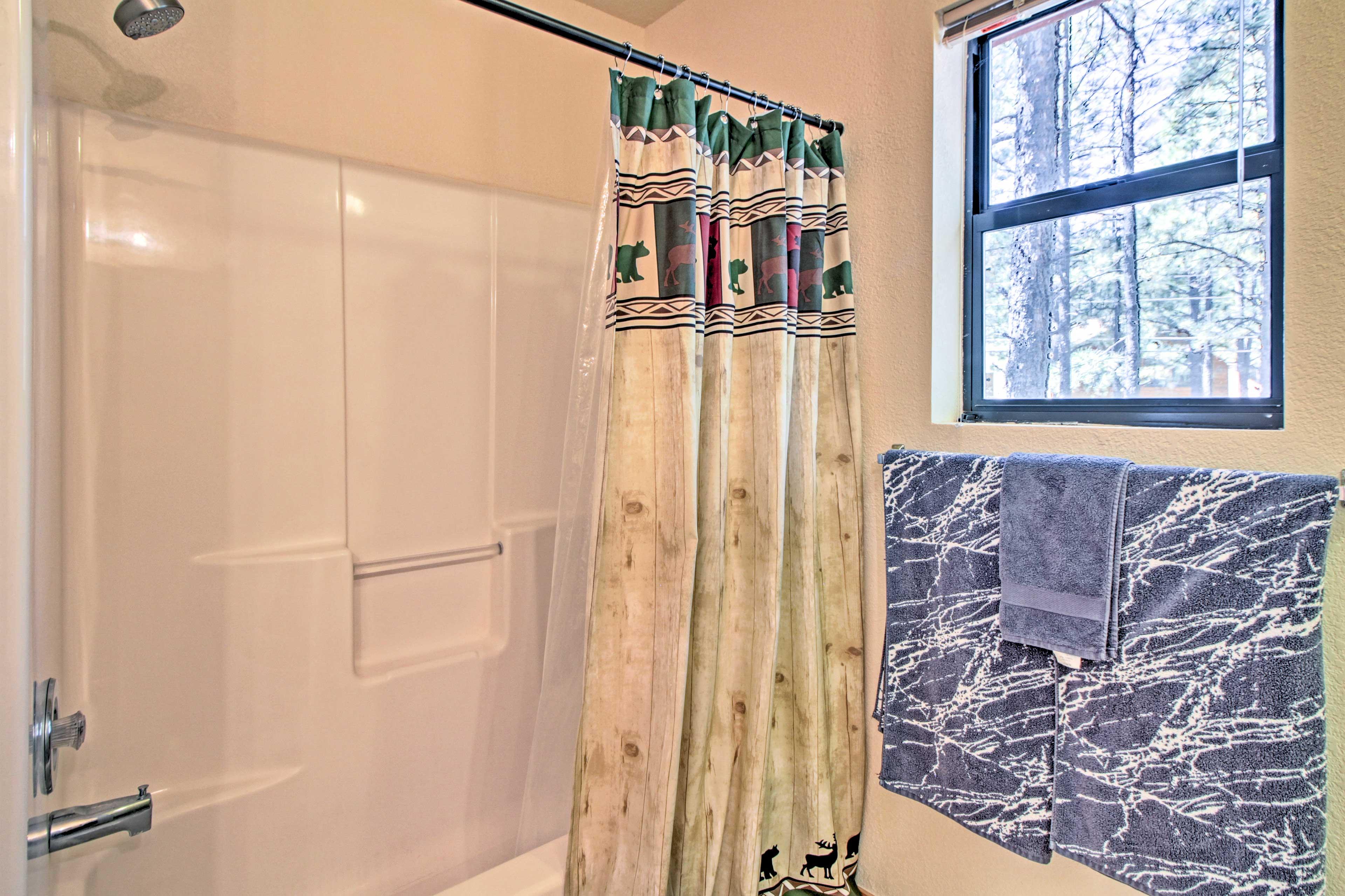 Choose between a soak and a shower.