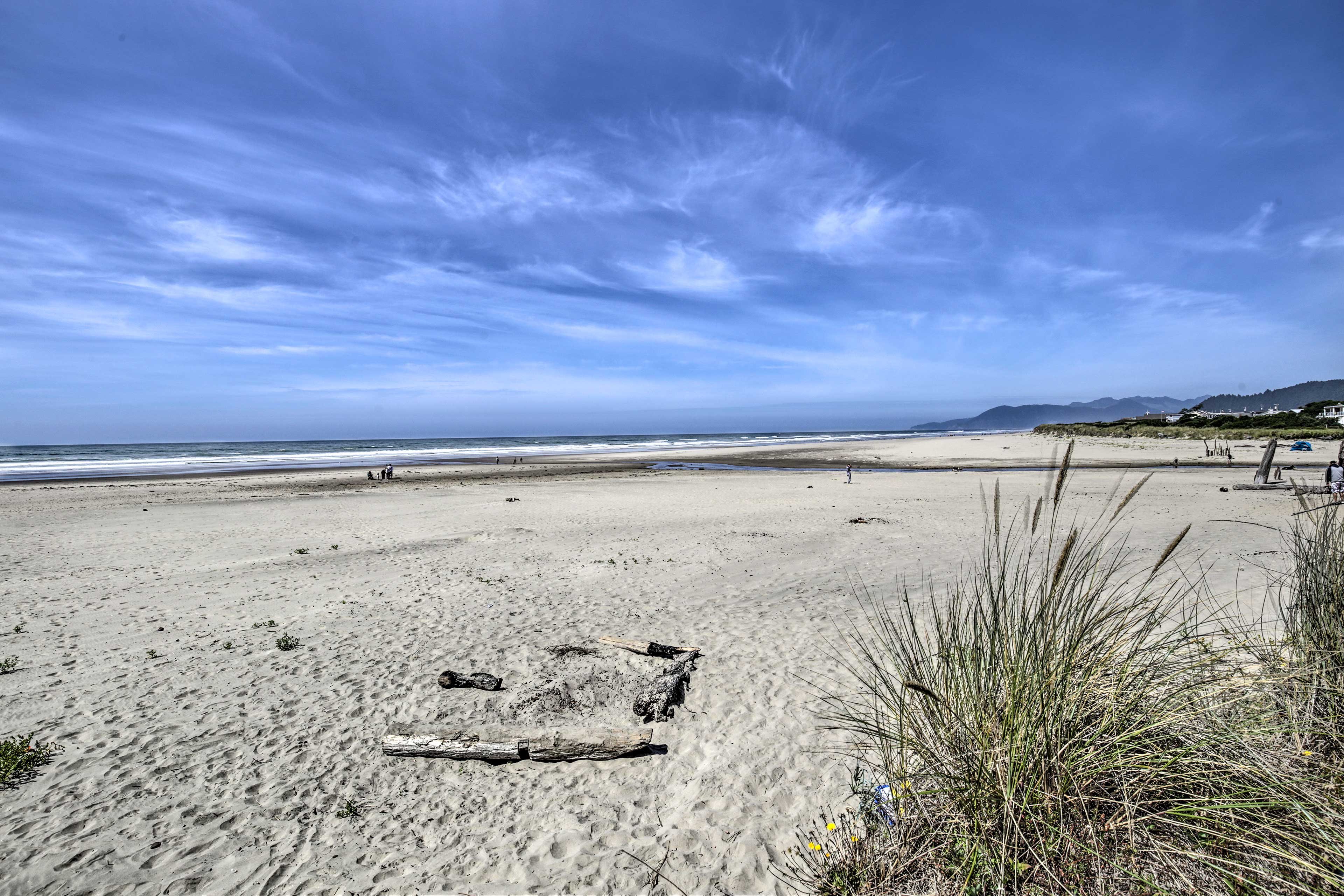 Stroll right over to the beach for incredible views!
