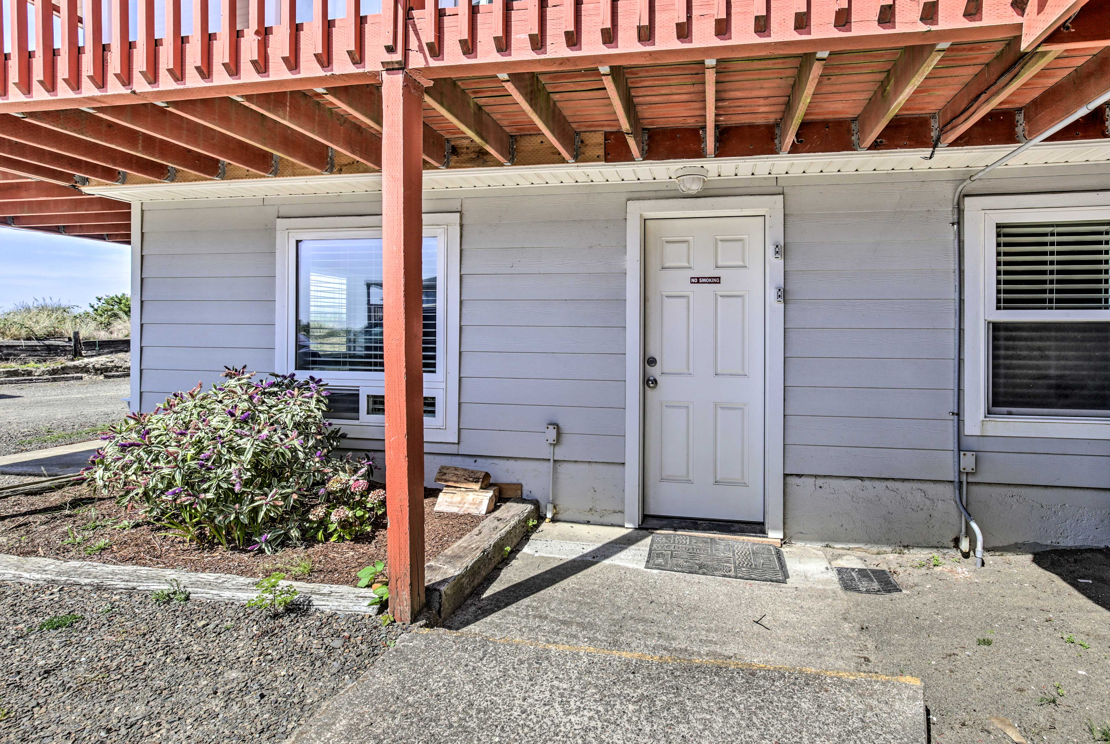 The condo is easily accessible, and right next to the beach.