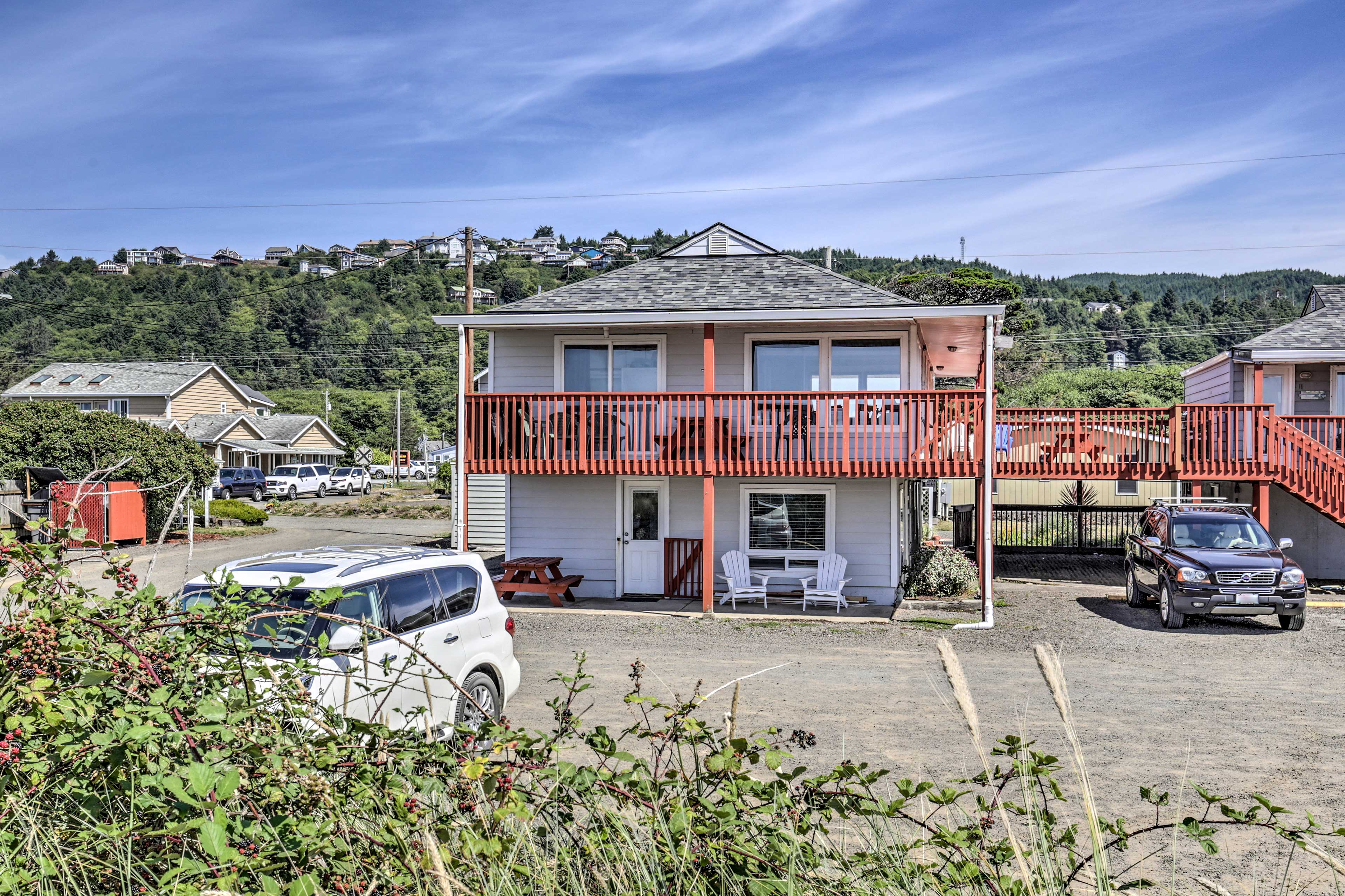 This Oregon Coast hideaway is minutes from downtown Rockaway Beach.