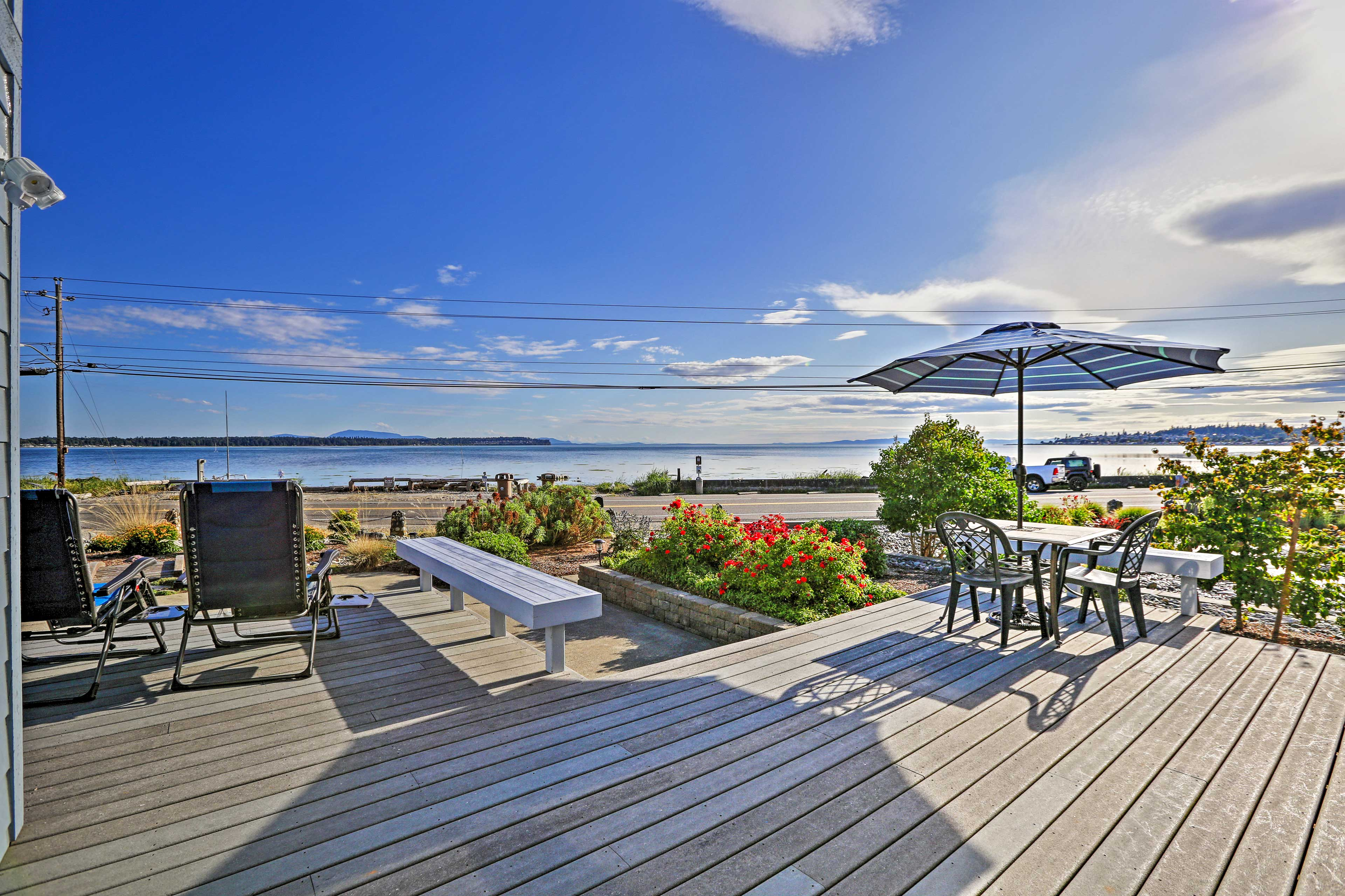 Soak in Birch Bay views from this waterfront home.