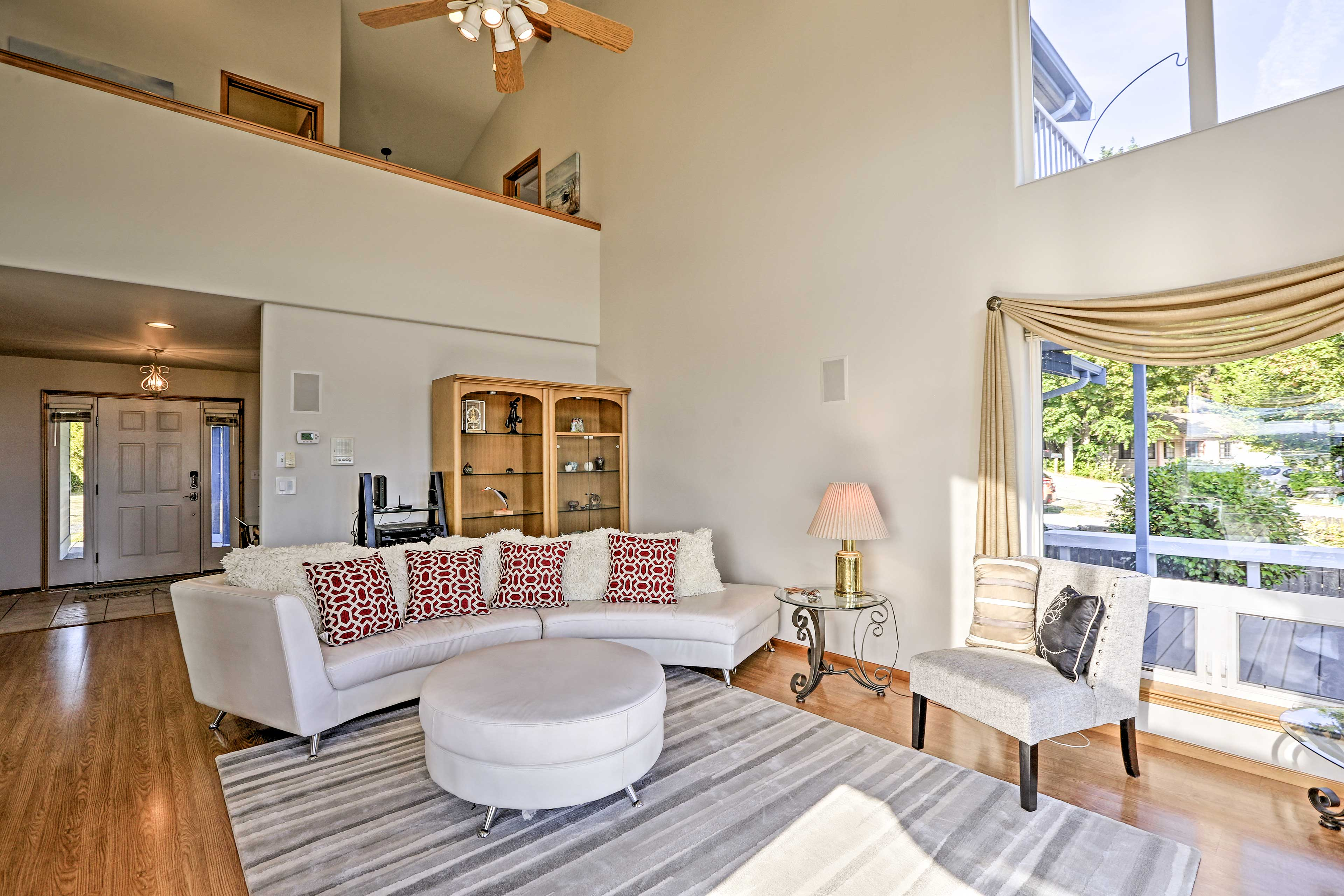 Gather friends and family in the living area.