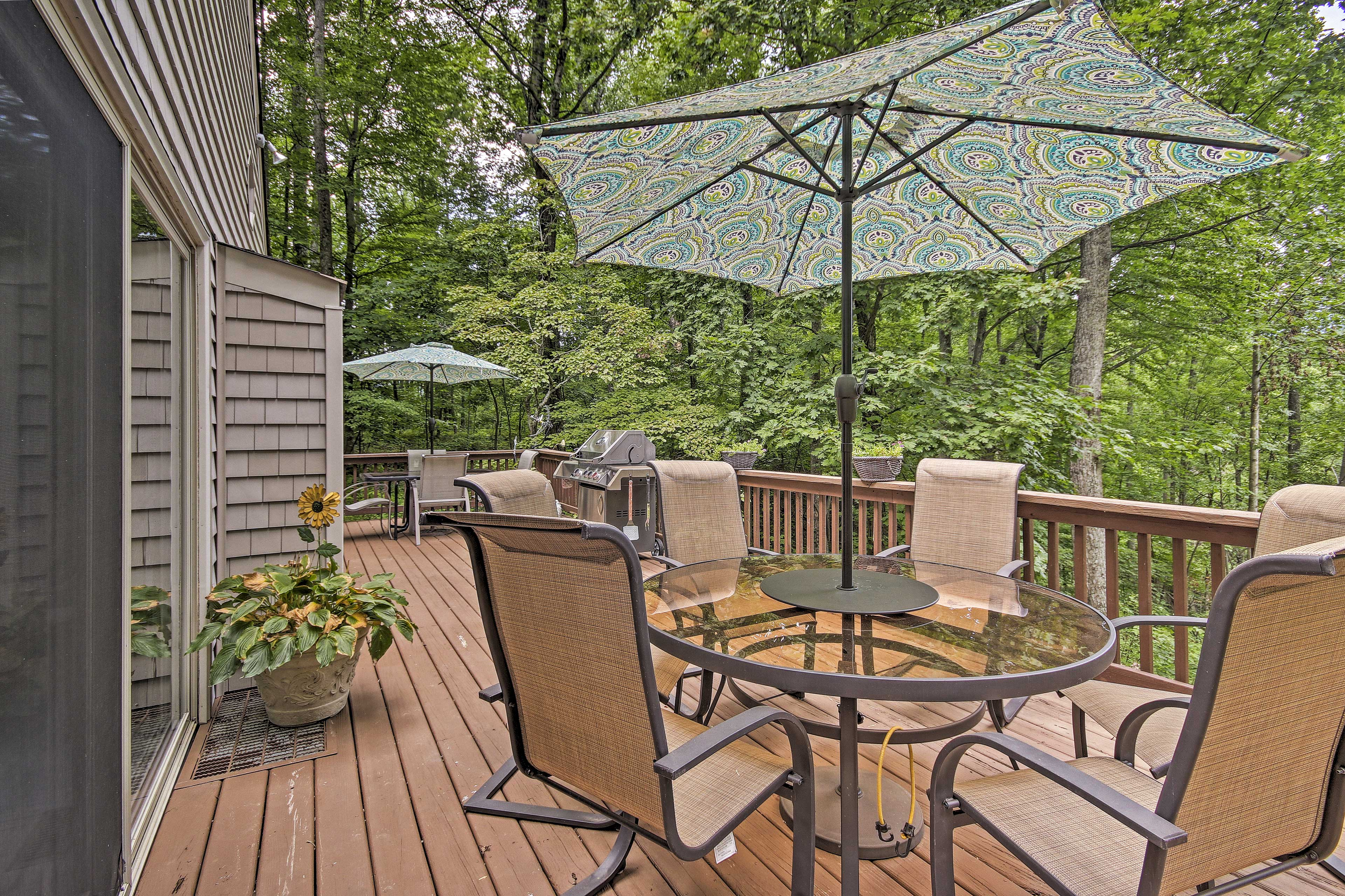 Soak up the Virginia sun on the expansive back deck.