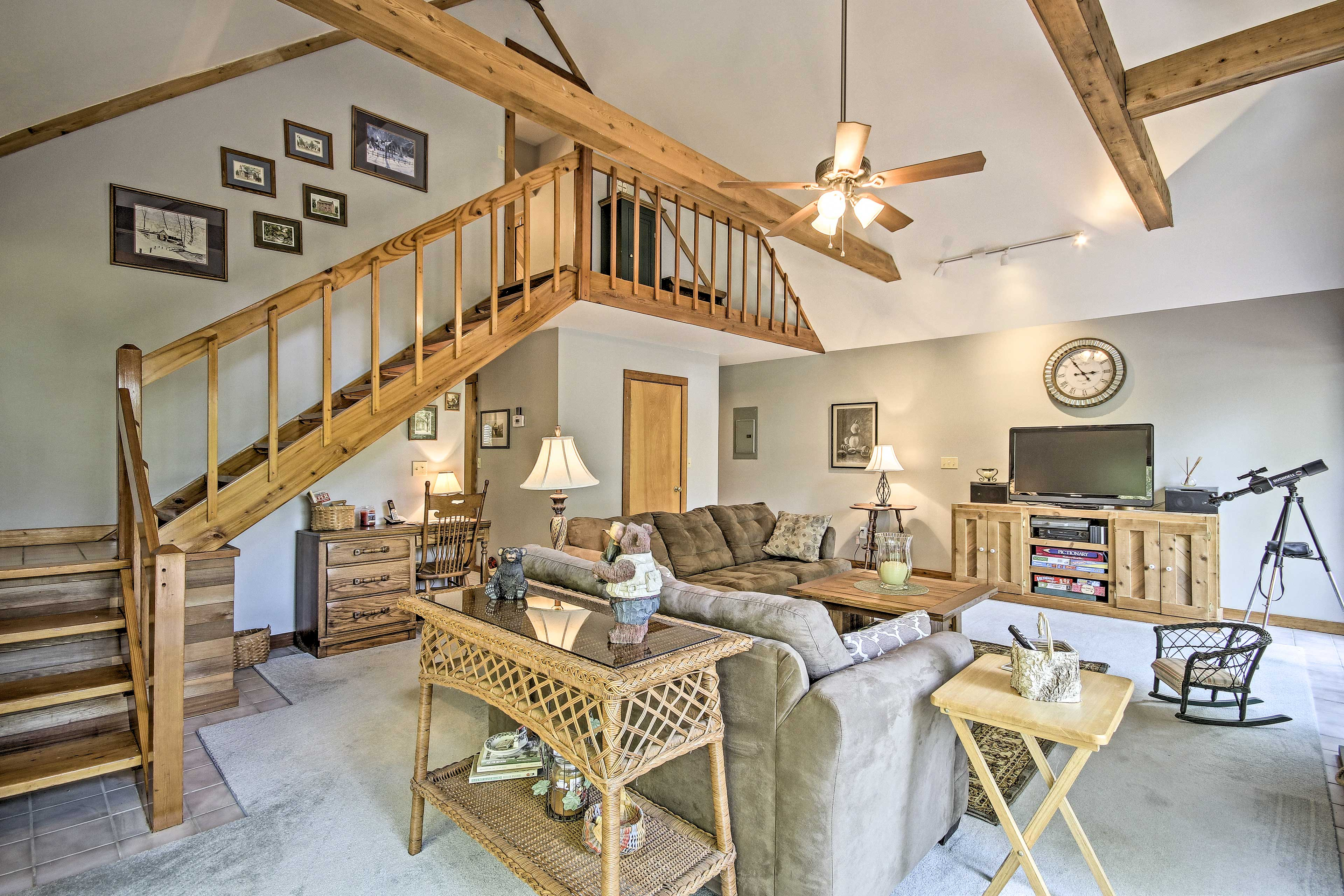 Whoever wins at Pictionary gets the master bedroom upstairs!