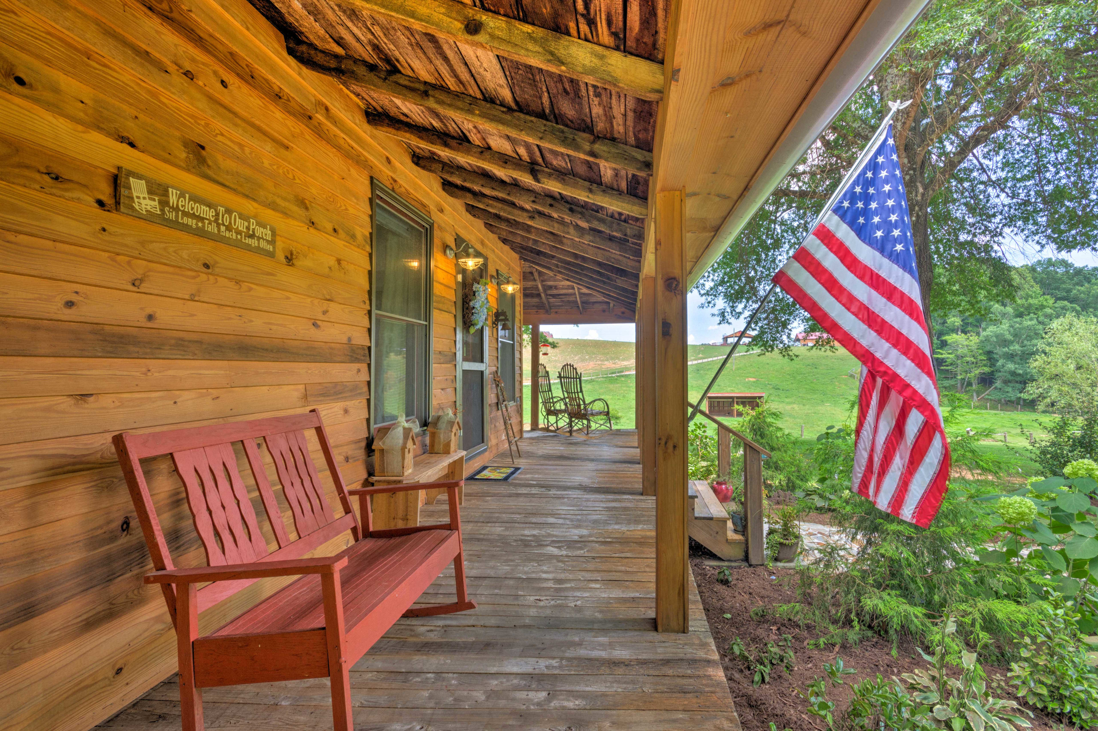 Sip your morning coffee on the front porch.