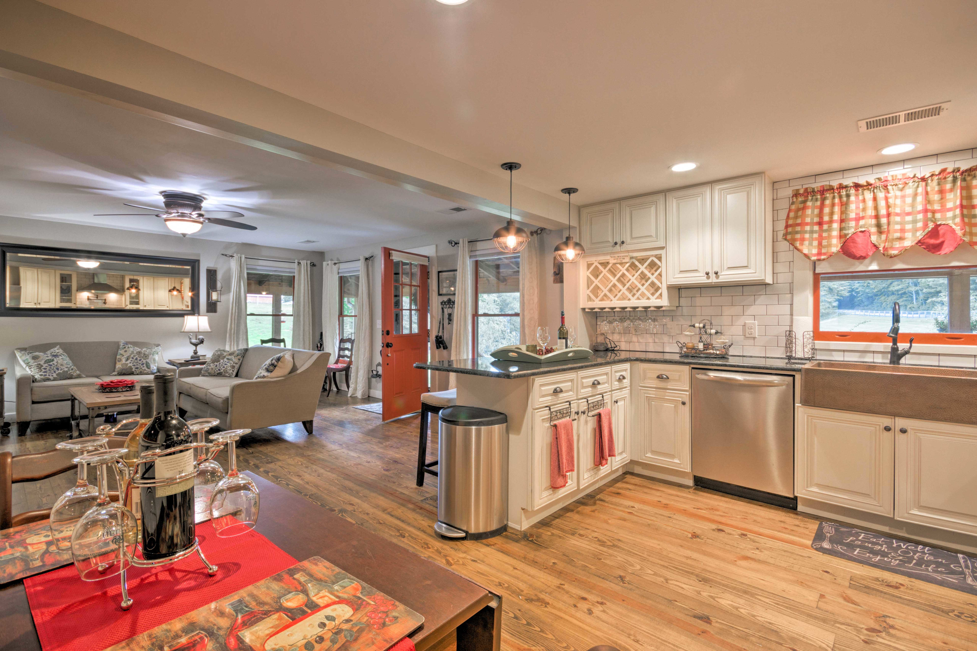 You'll appreciate the high-end stainless steel appliances.