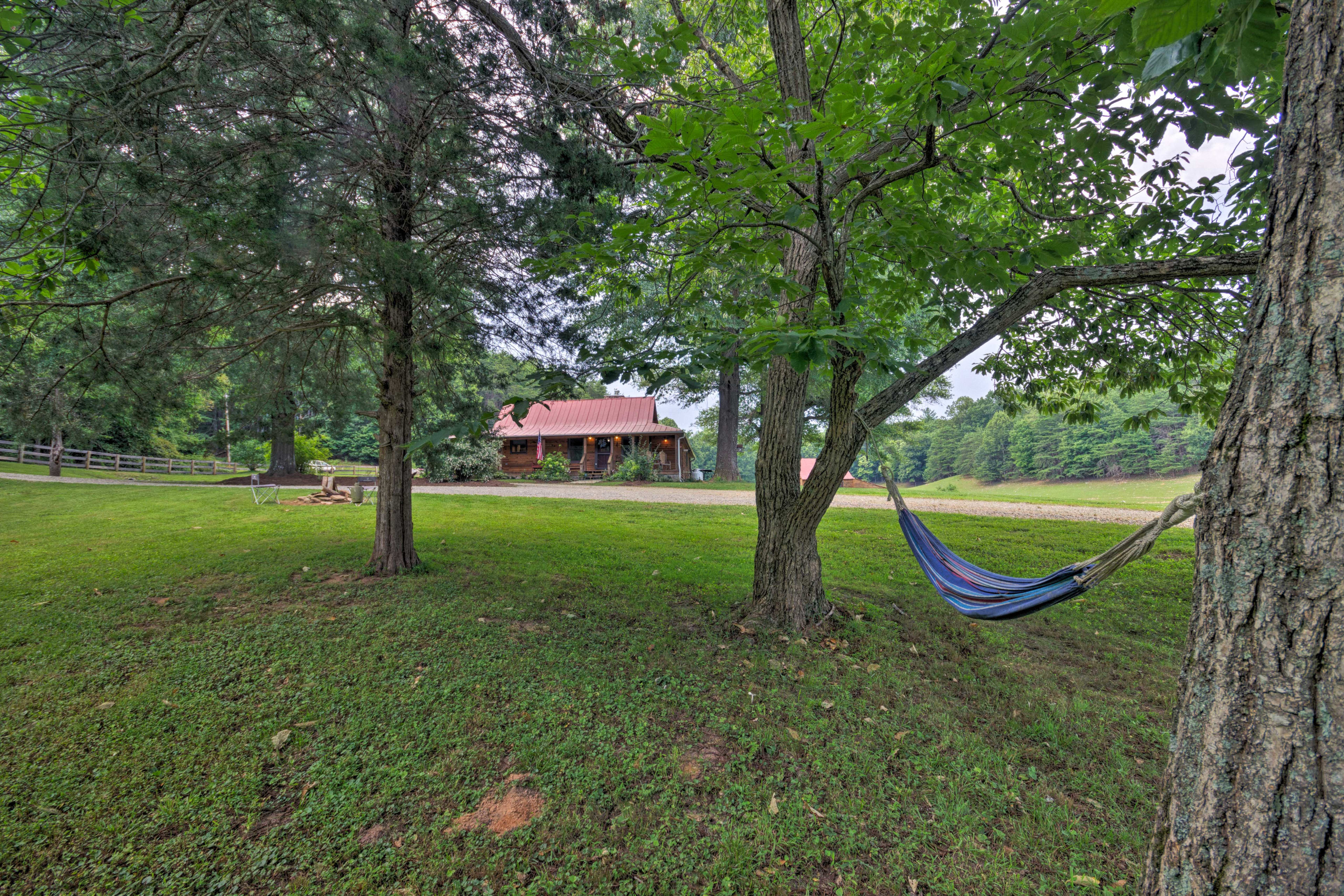 Get comfy in the hammock with a new book.