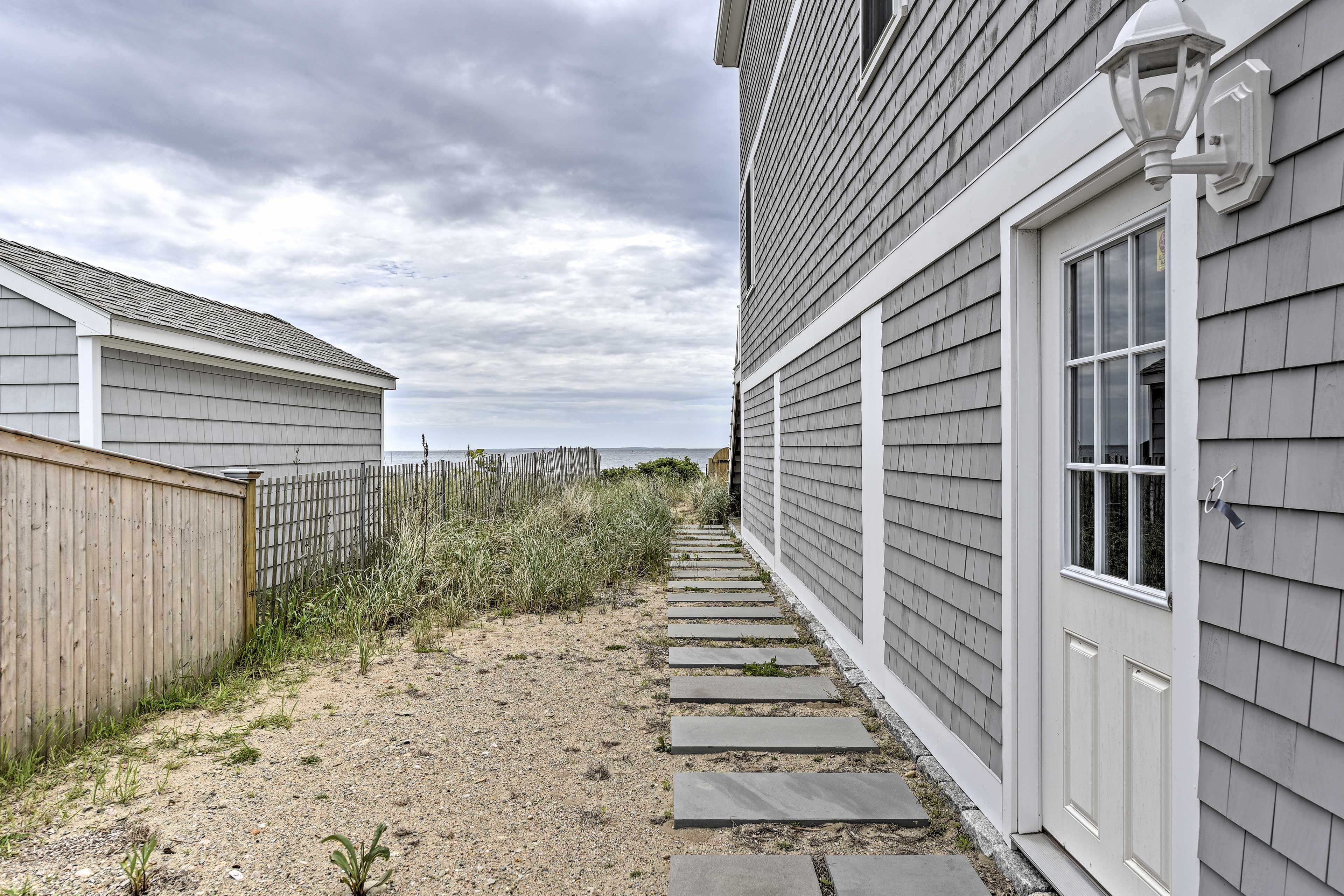 The cottage is just steps from the beach!