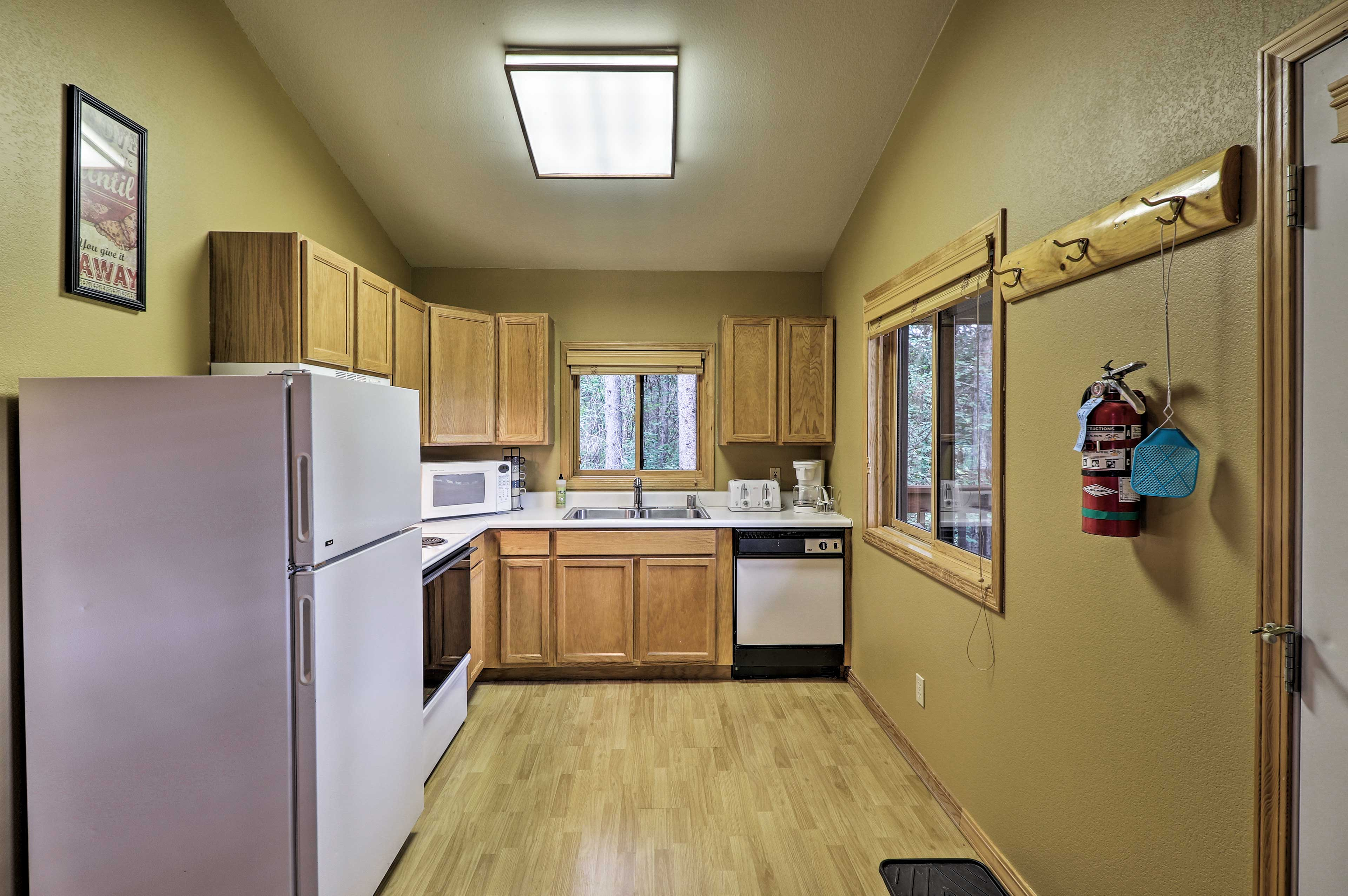 Prepare home-cooked favorites in the fully equipped kitchen.