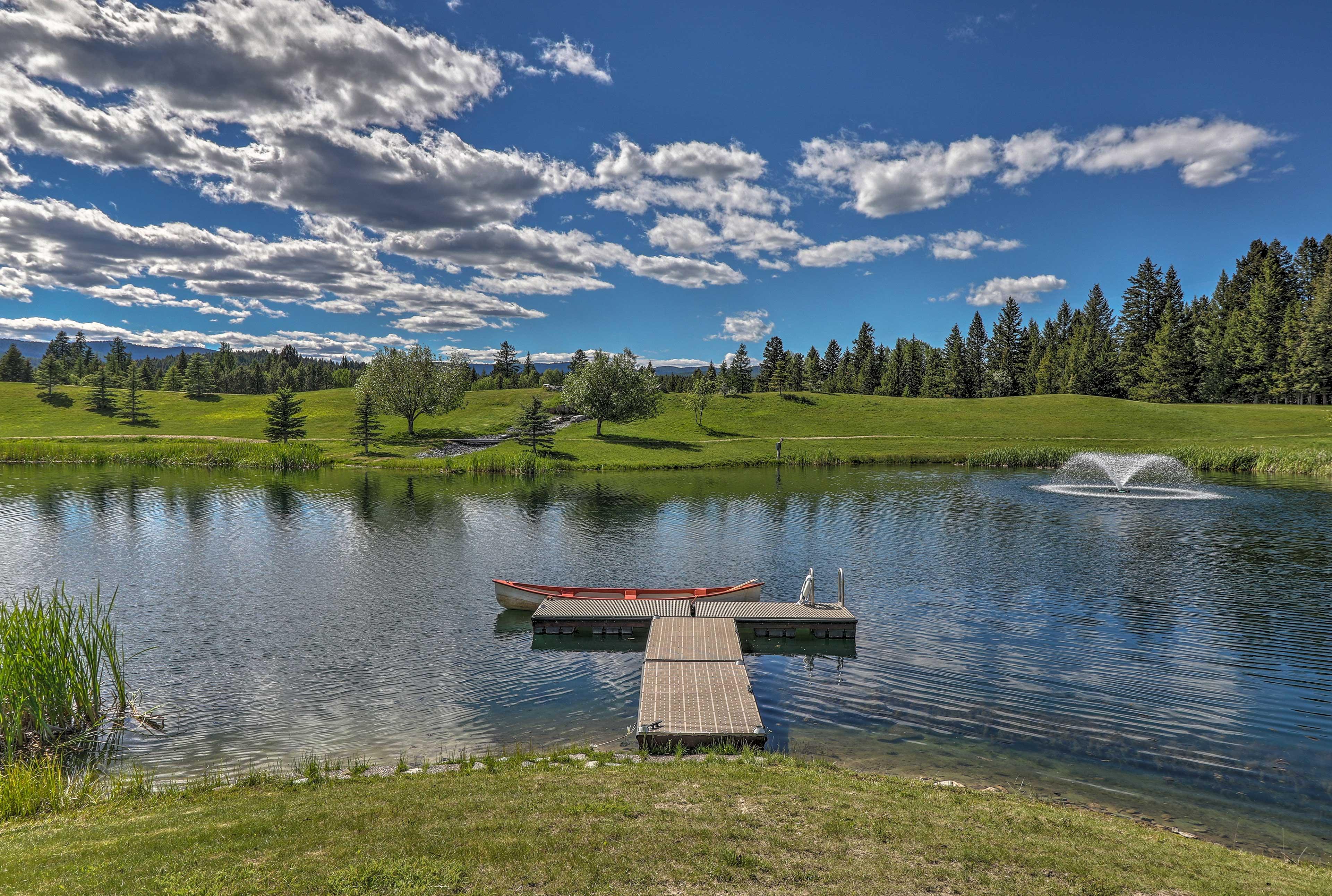 The vacation rental cabin is part of Glacier Ridge Ranch.
