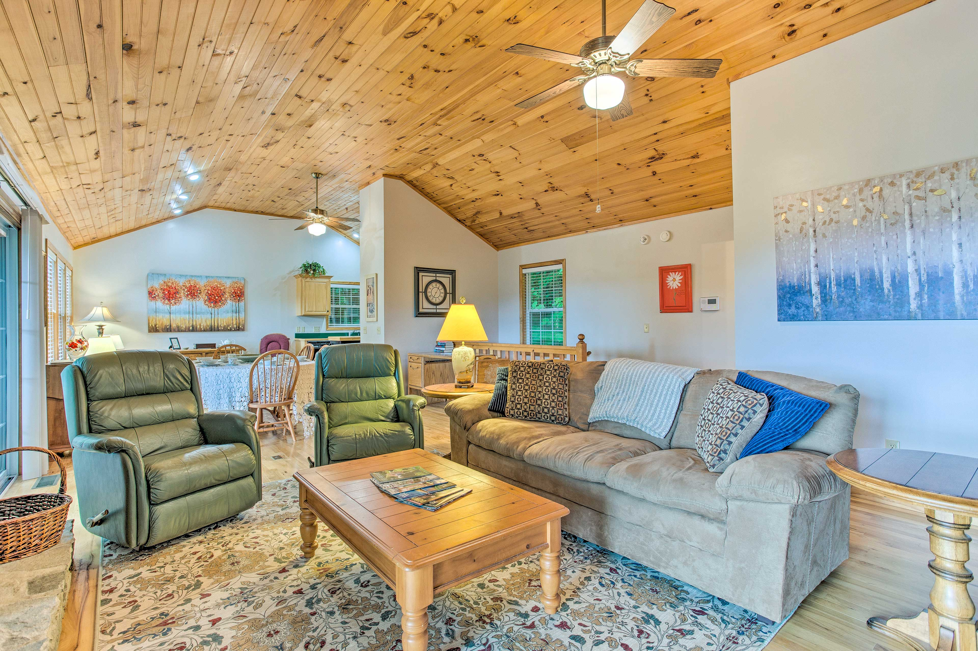 Living Room | Knotty-Pine Accents | Central A/C & Heating