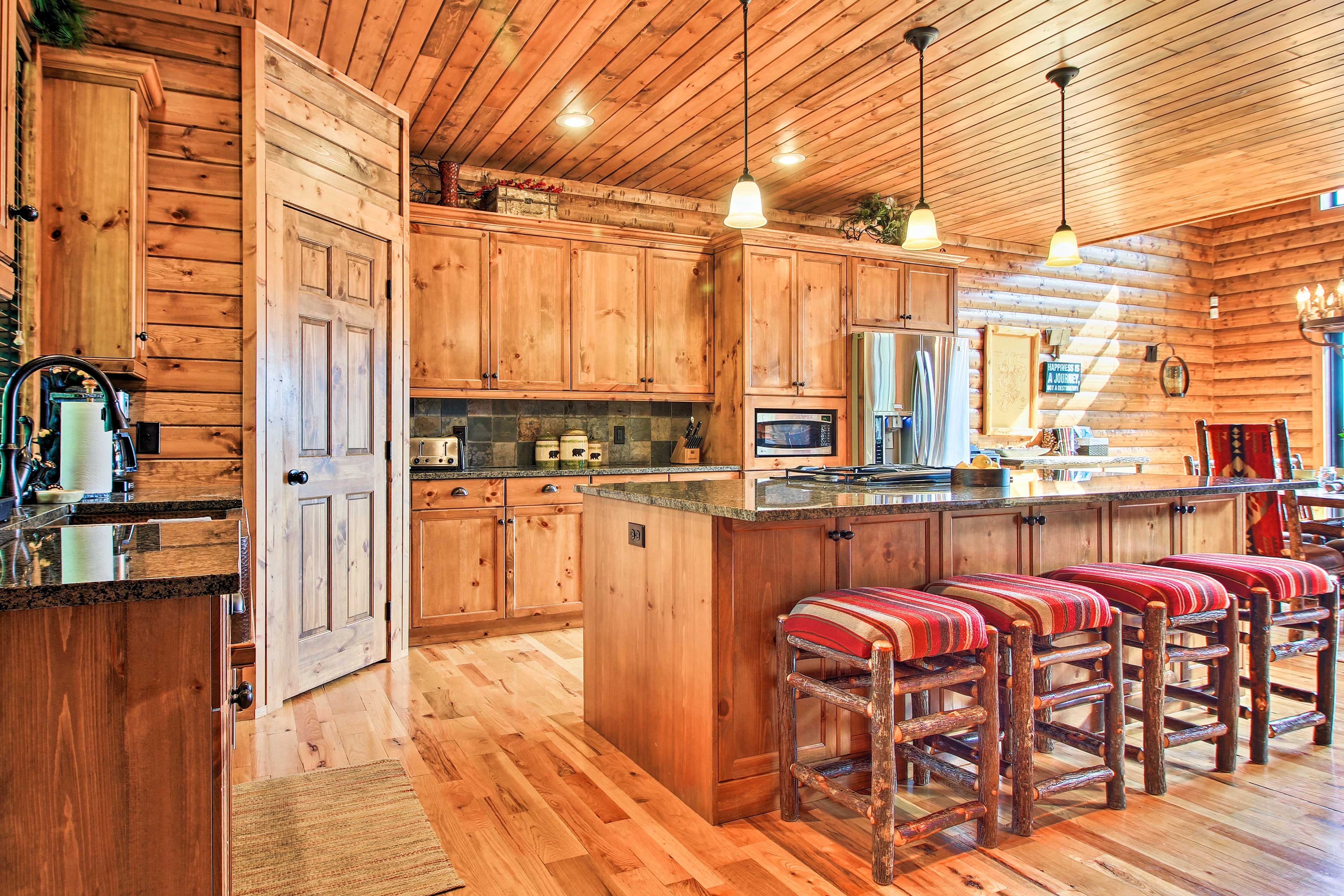 Step inside and enter the full kitchen.