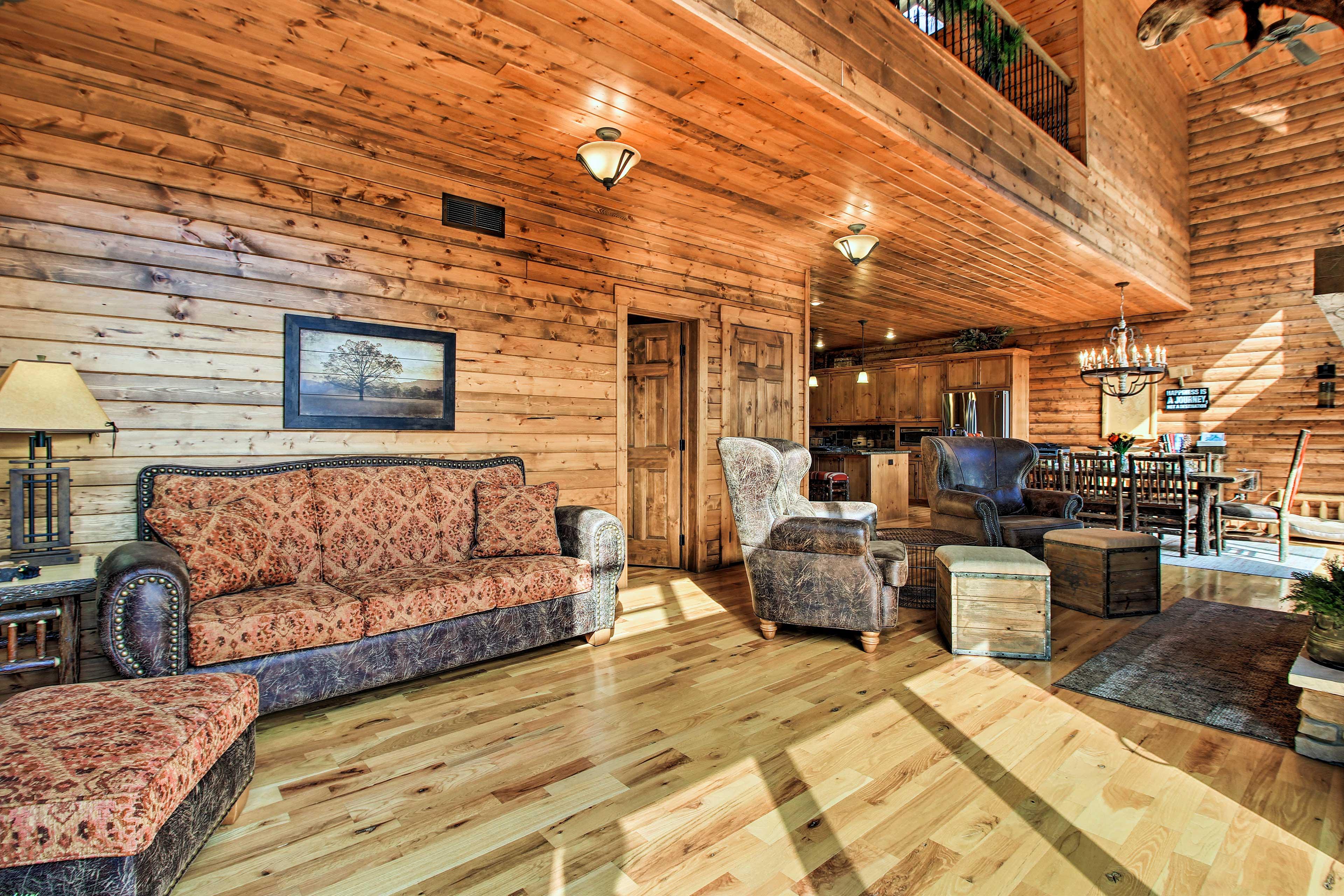 Elegant furnishings will make you feel at home.