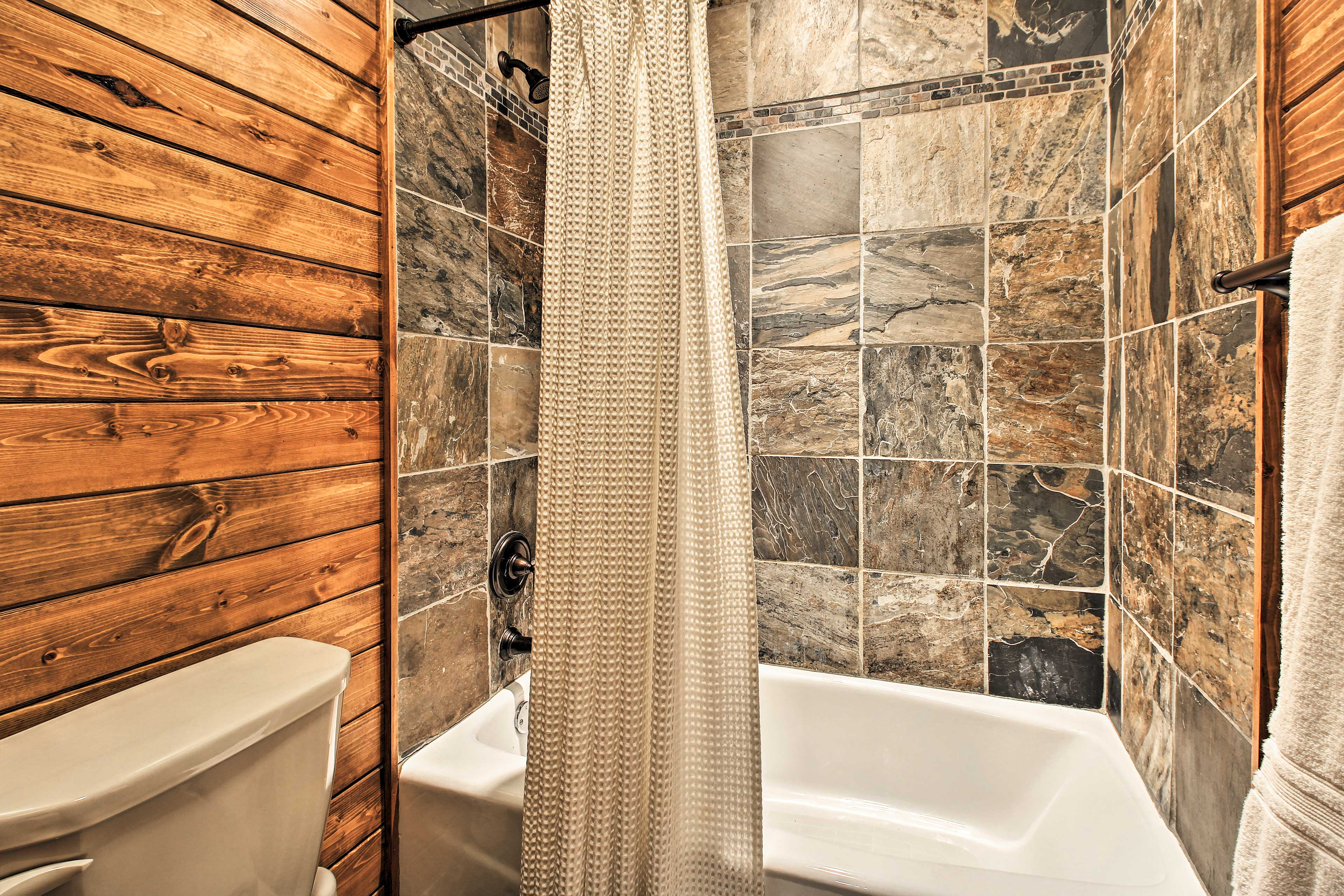 Enjoy a slow start to the day in the soaking tub.