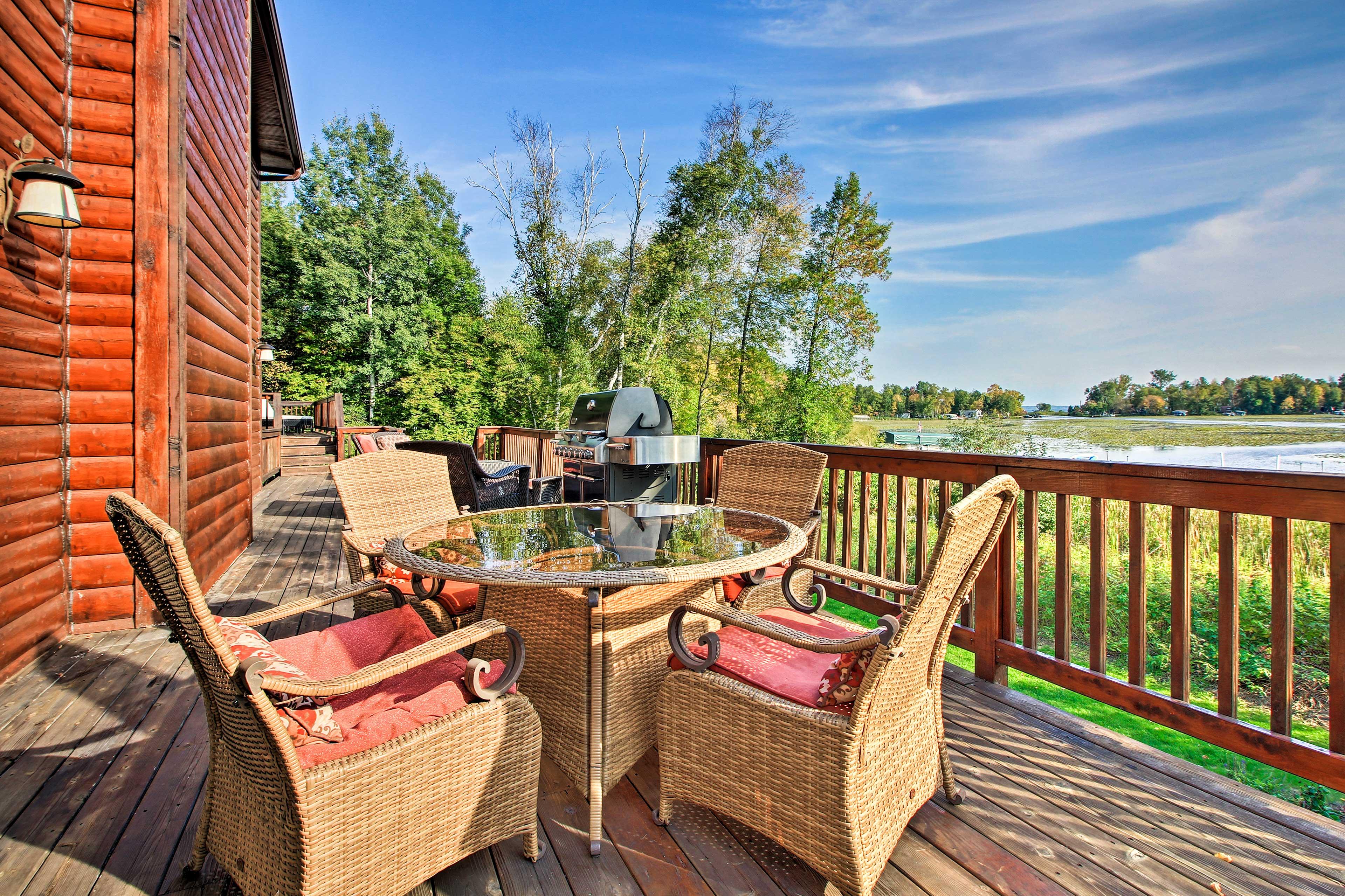 Enjoy fantastic amenities like a spacious, furnished porch.