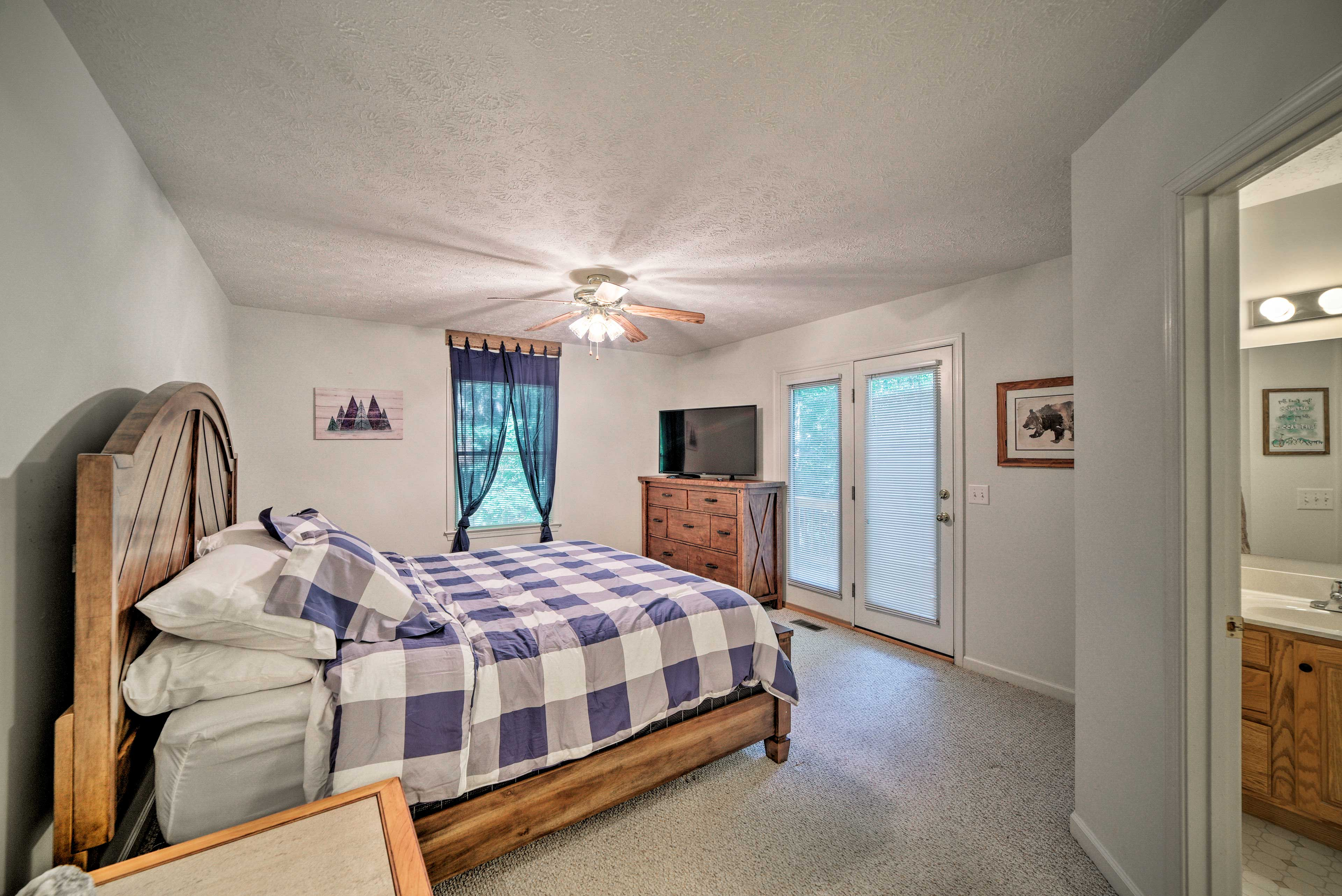 Claim the master bedroom for your own!