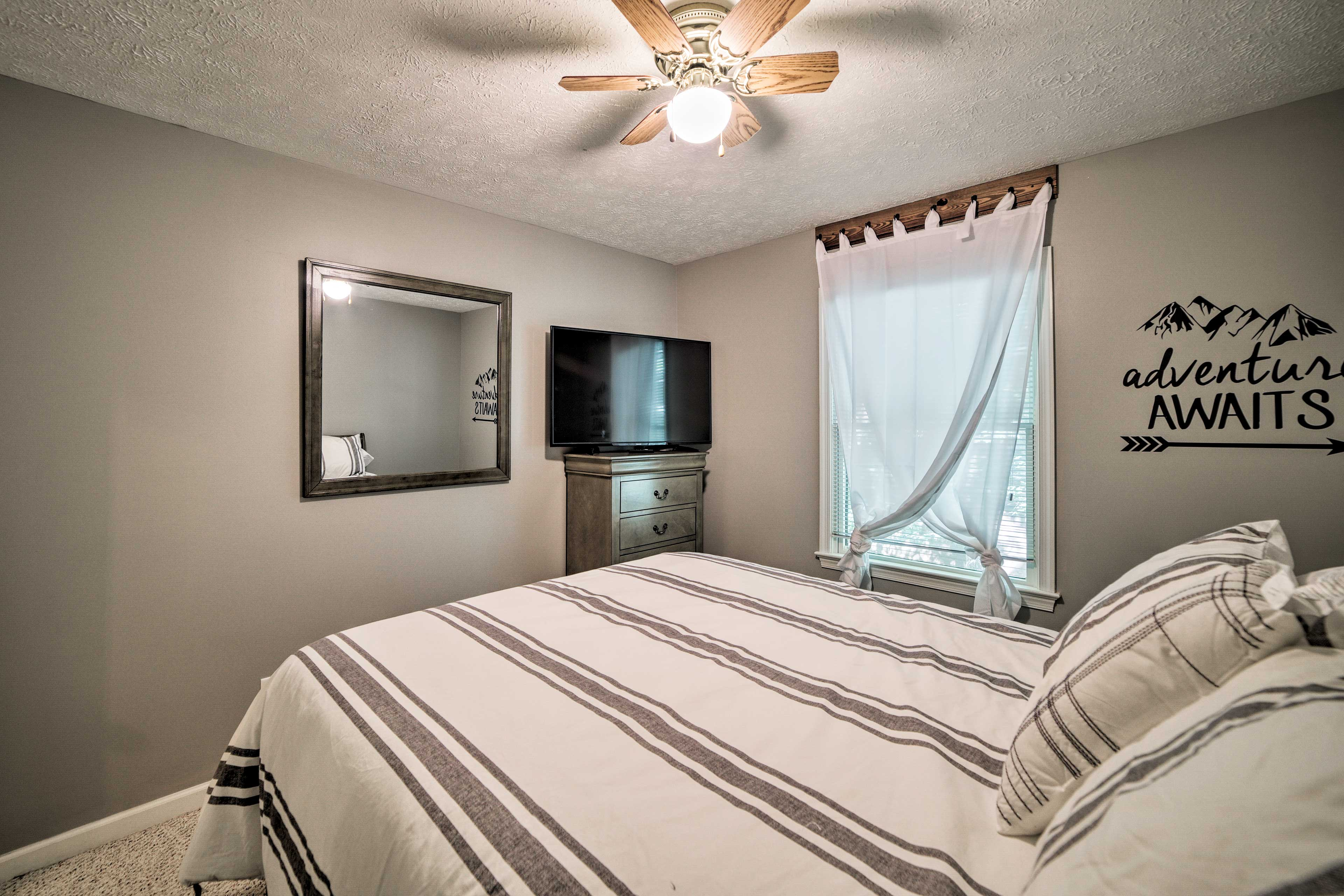 Adventure awaits when you choose this second bedroom!