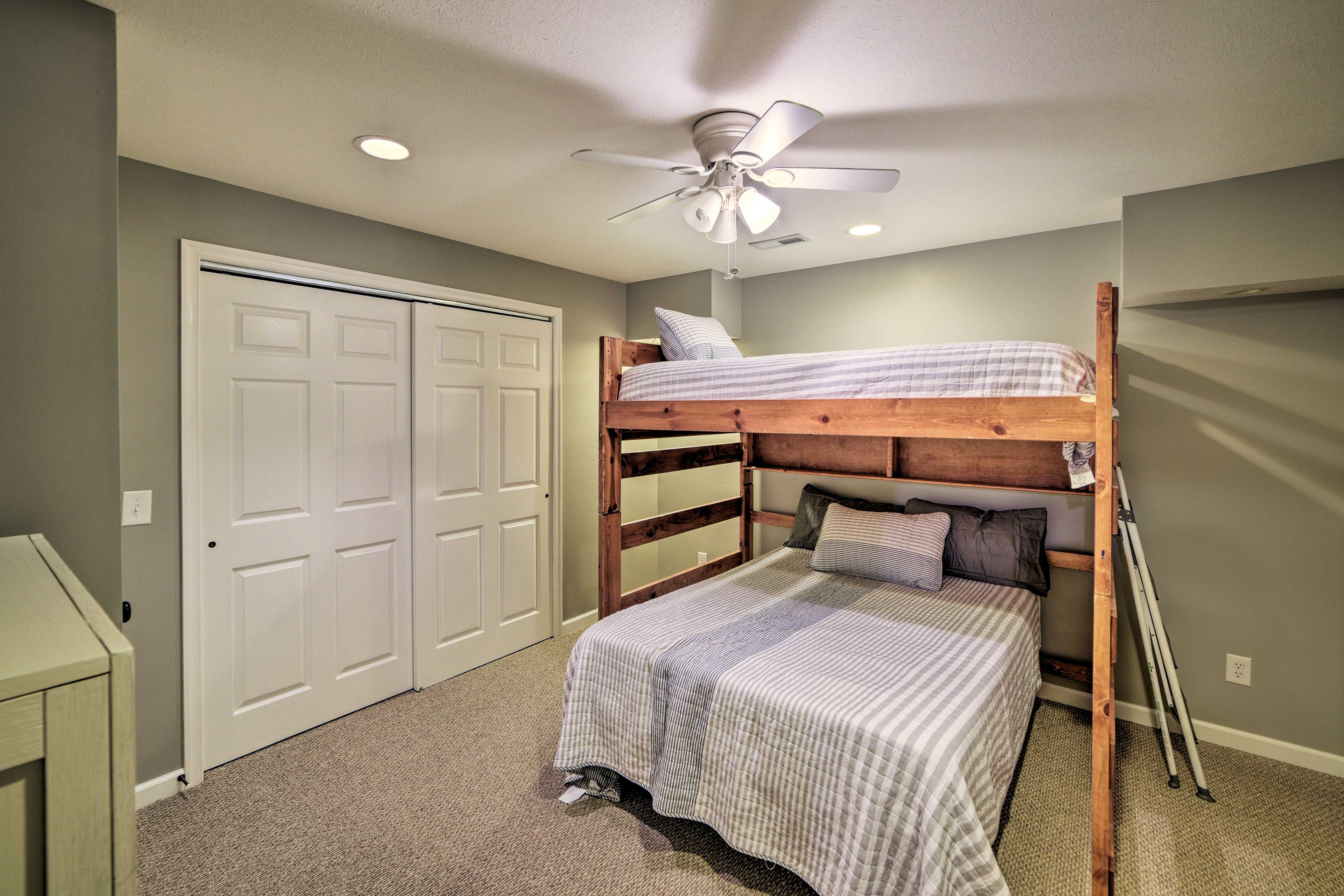 The fourth bedroom is perfect for the kiddos.