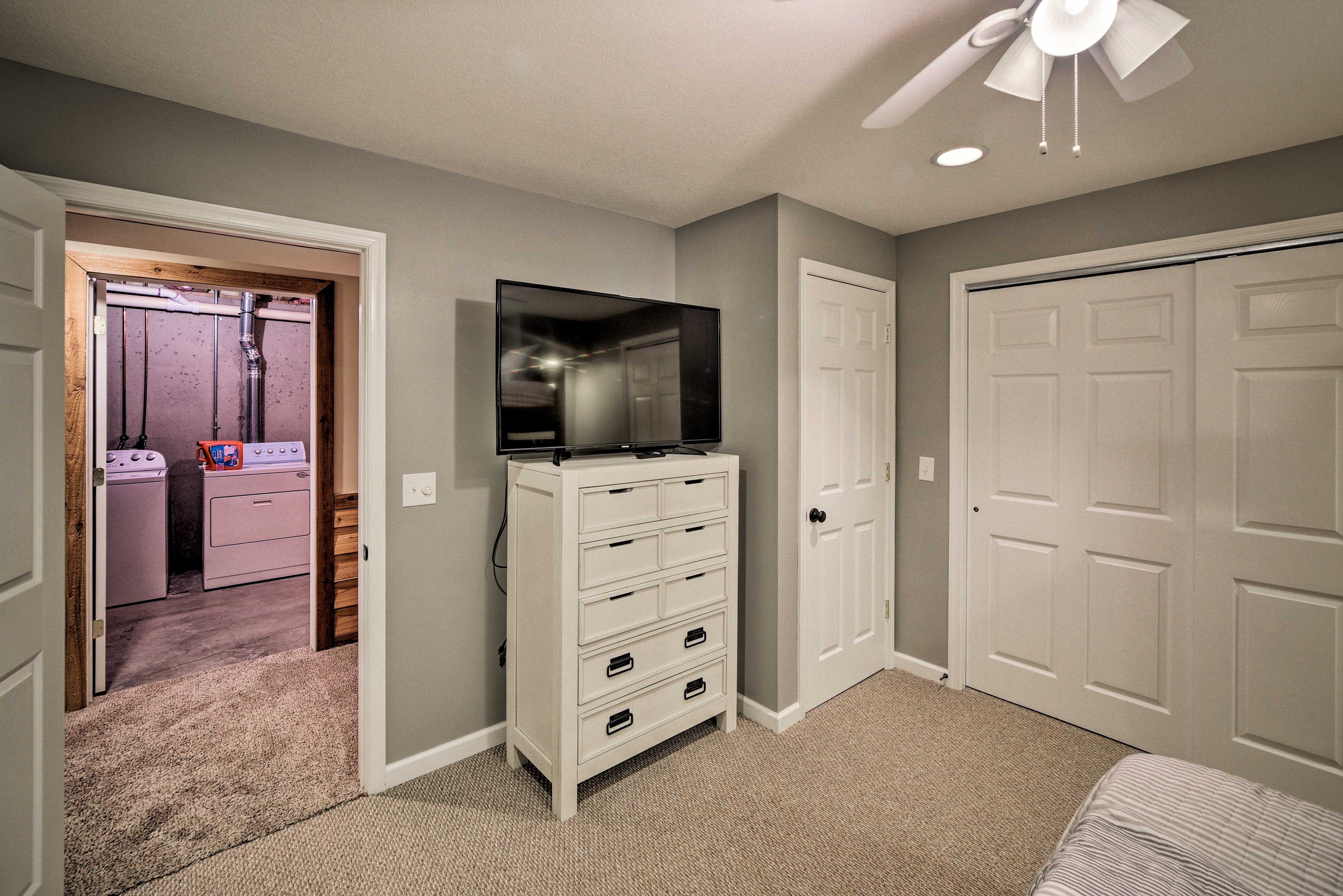 Smart TVs are located in every bedroom.