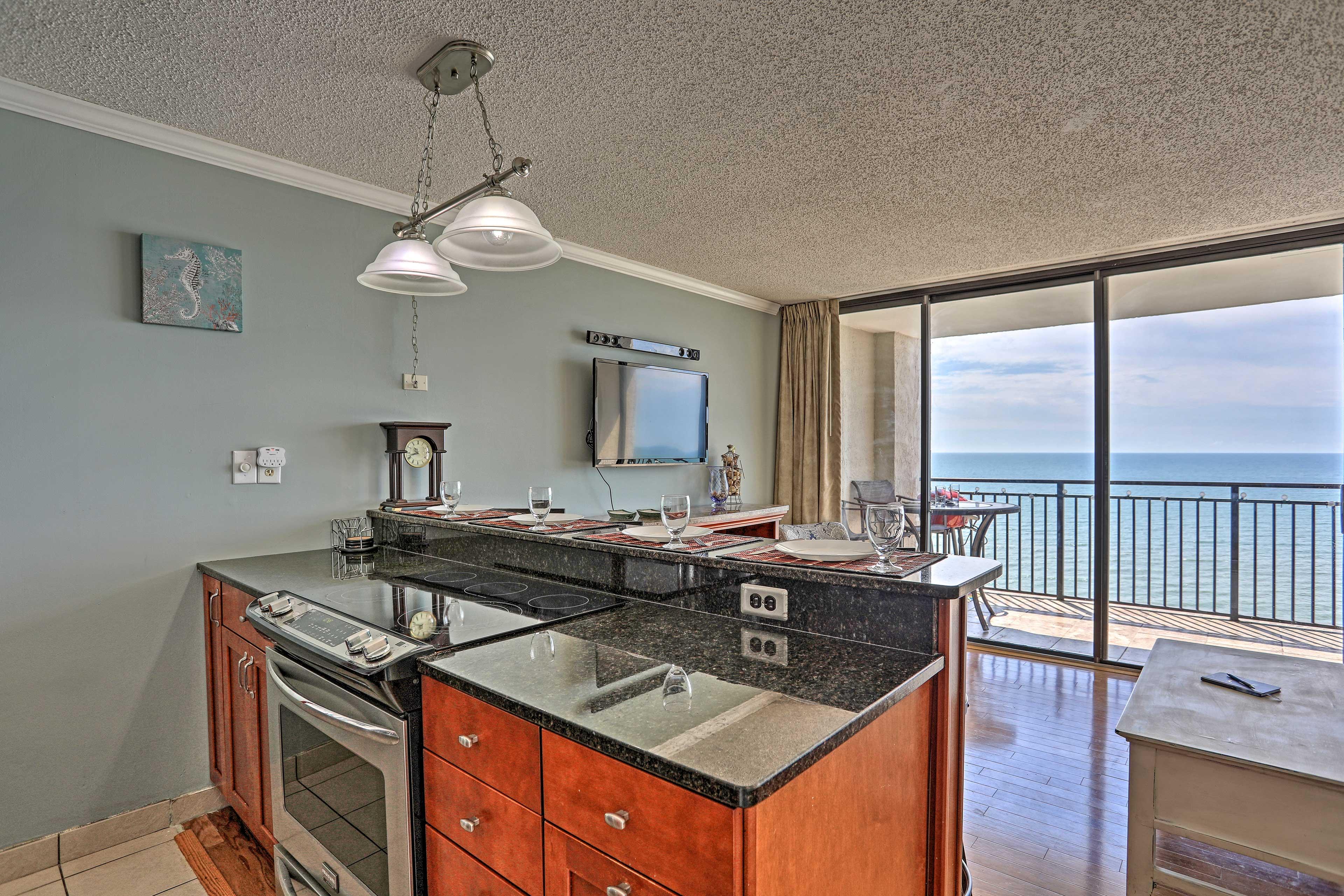 Enjoy ocean views while you prepare dinner.